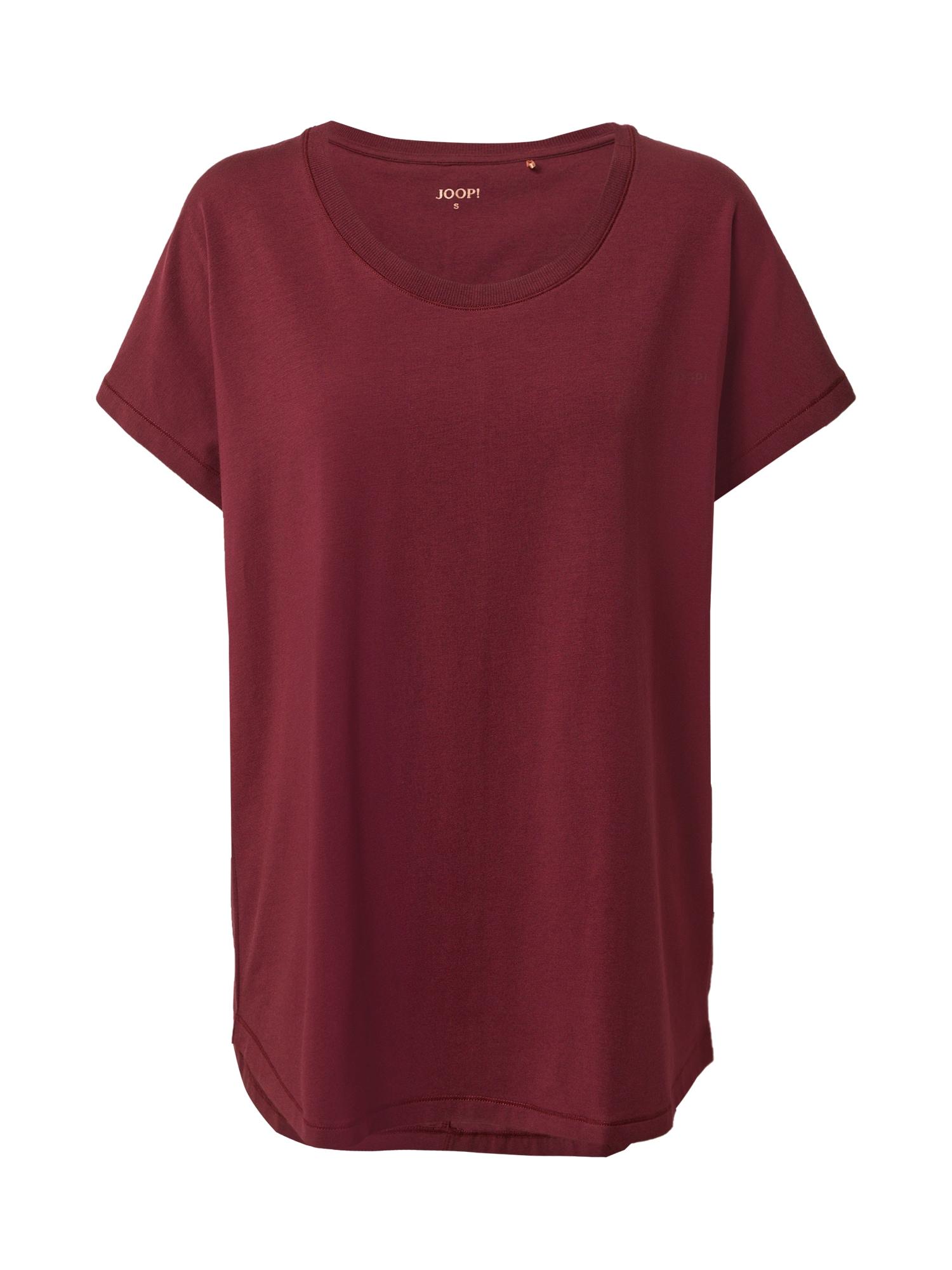 JOOP! Bodywear Pižaminiai marškinėliai vyno raudona spalva