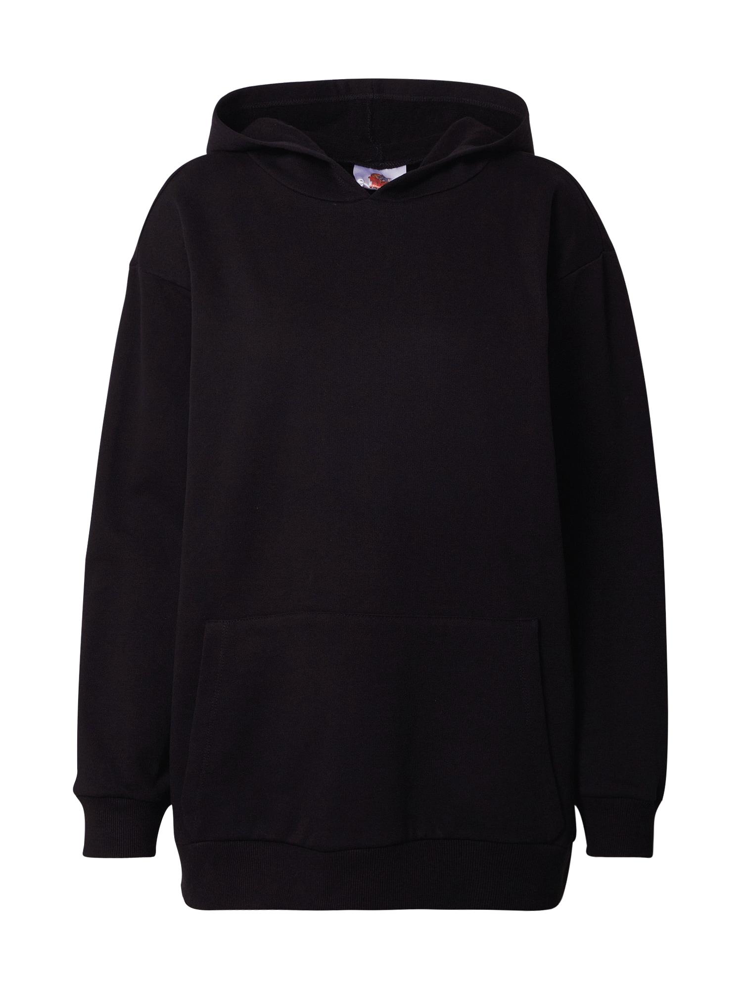 Trendyol Megztinis be užsegimo juoda / balta / rožinė / purpurinė