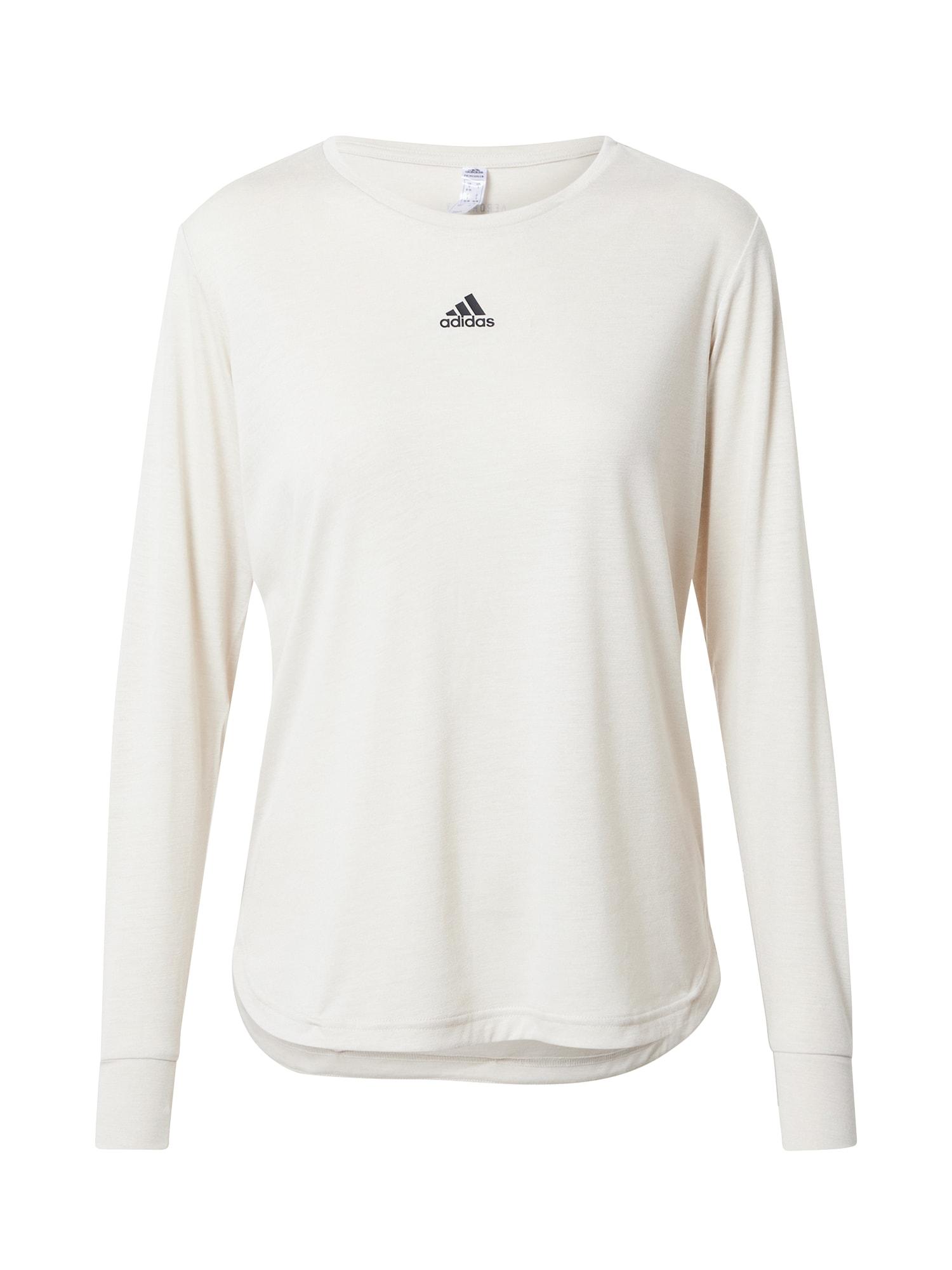 ADIDAS PERFORMANCE Funkční tričko  černá / světle hnědá