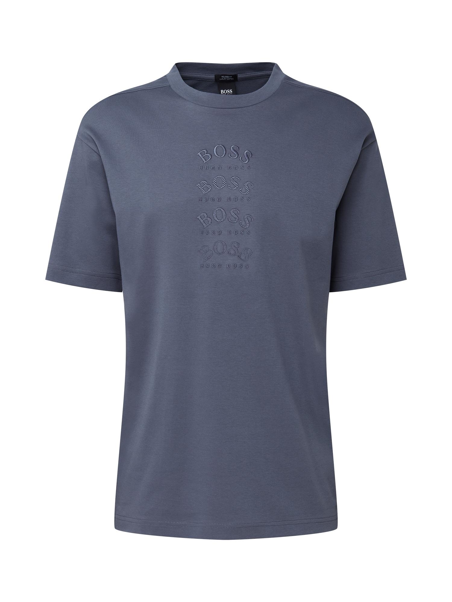 BOSS ATHLEISURE Marškinėliai 'Talboa' tamsiai pilka