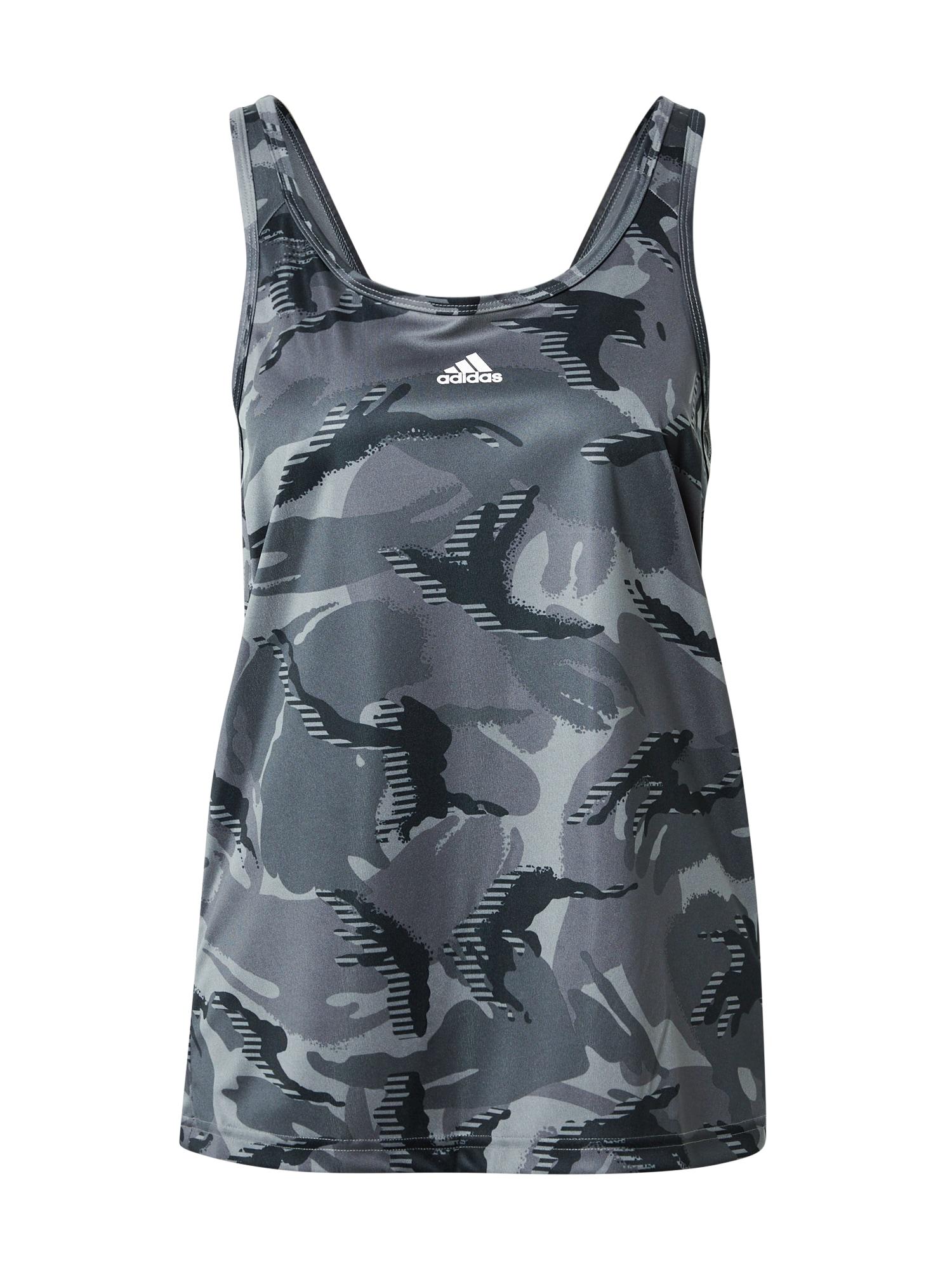 ADIDAS PERFORMANCE Sportiniai marškinėliai be rankovių balta / bazalto pilka / antracito