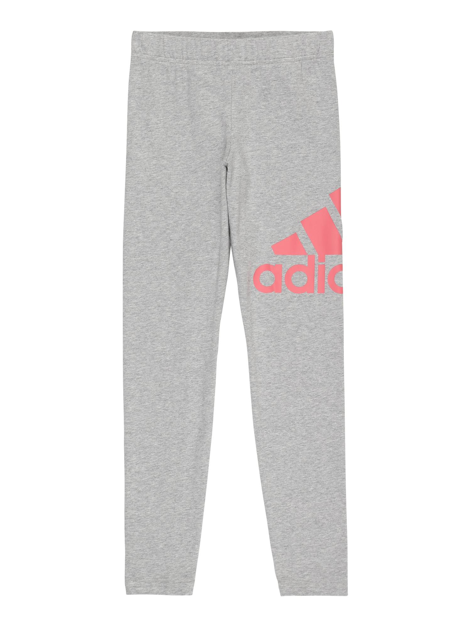 ADIDAS PERFORMANCE Sportinės kelnės šviesiai pilka / neoninė rožinė