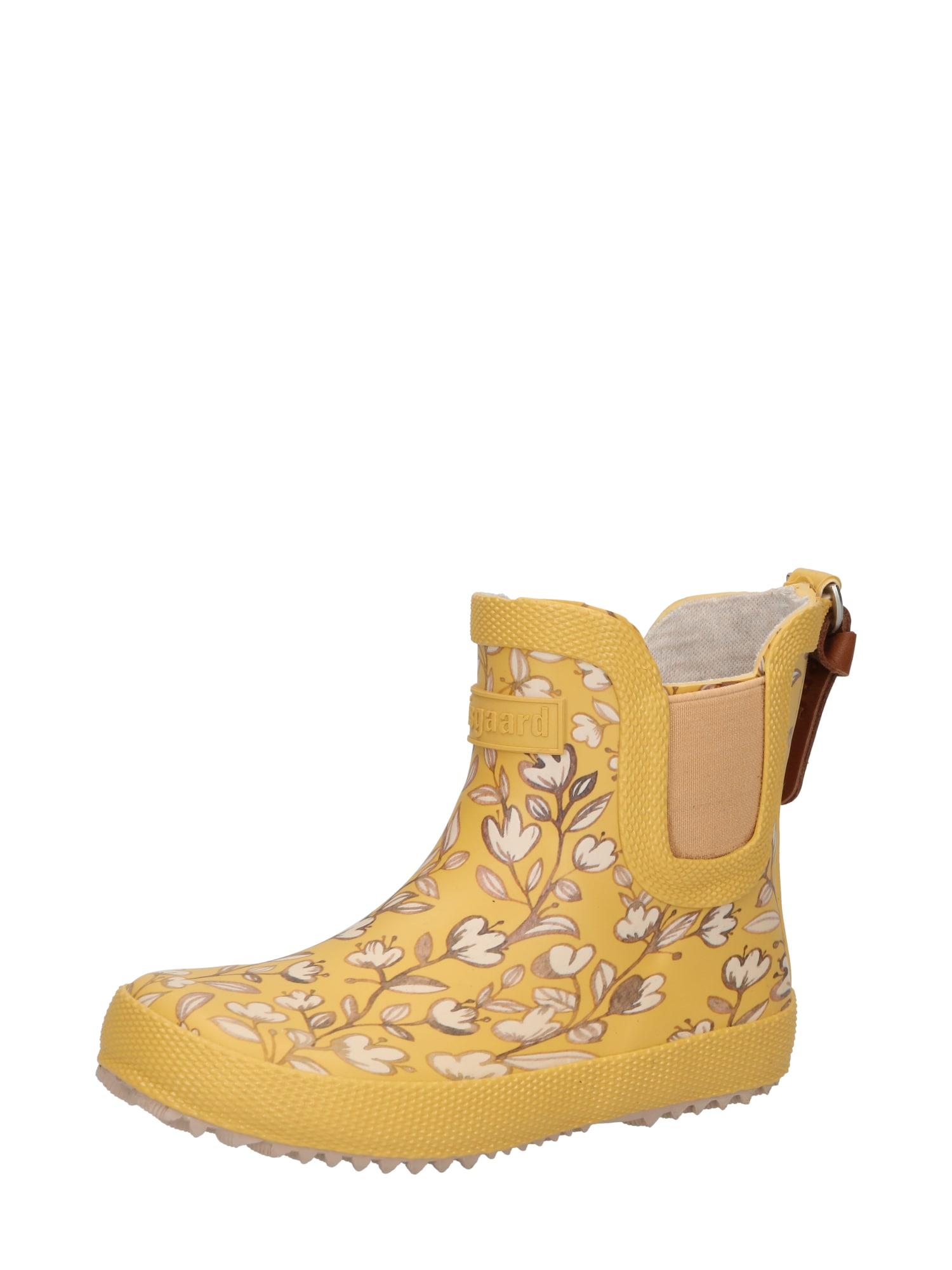 BISGAARD Guminiai batai garstyčių spalva / pudros spalva / balta / tamsi smėlio / karamelės