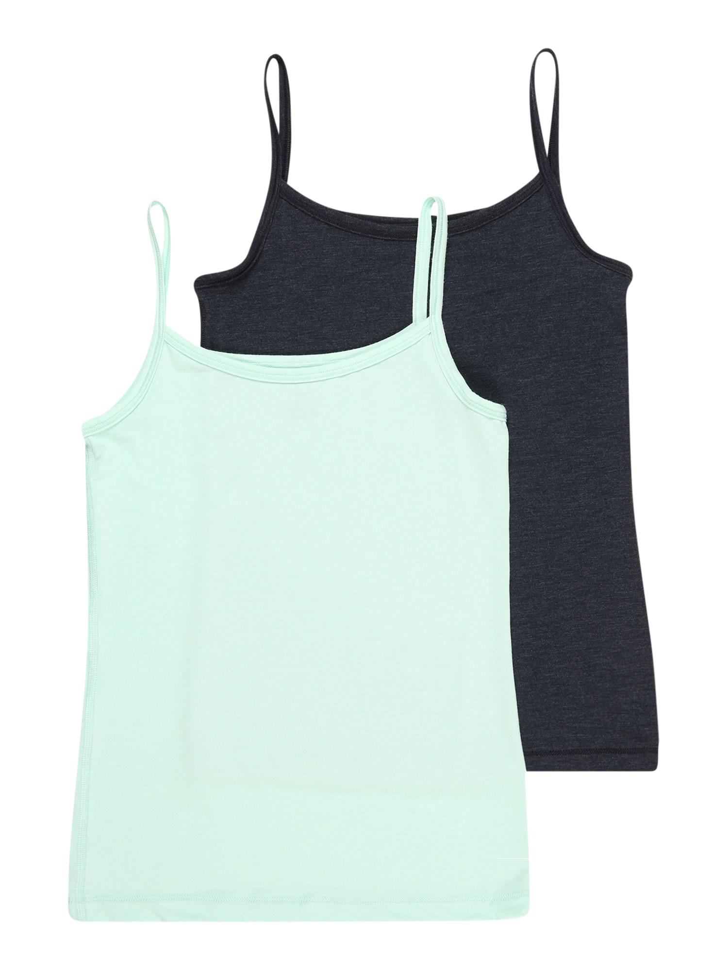 SCHIESSER Apatiniai marškinėliai mėtų spalva / tamsiai mėlyna