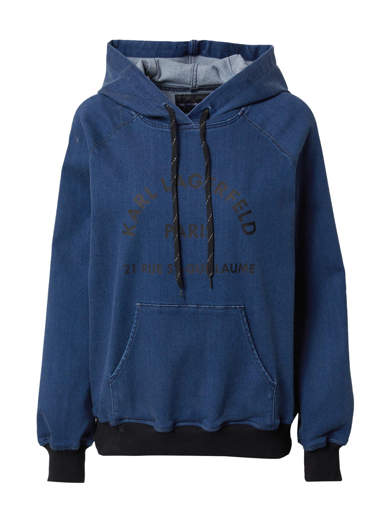 Karl Lagerfeld Denim Megztinis be užsegimo tamsiai (džinso) mėlyna / juoda