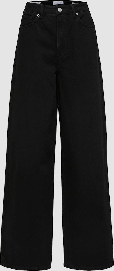 Selected Femme Drew hoch taillierte Jeans im Straight-Leg Fit