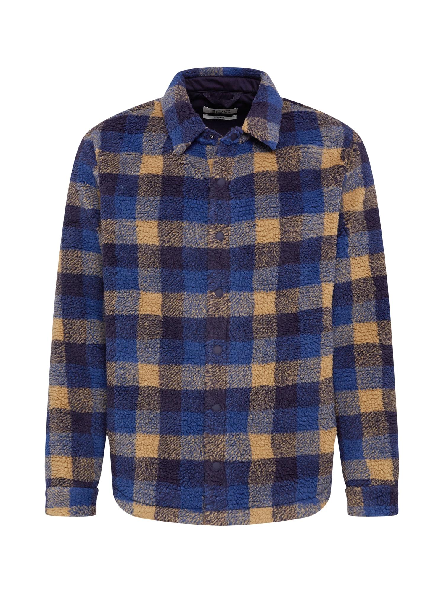 """EDC BY ESPRIT Marškiniai tamsiai mėlyna / sodri mėlyna (""""karališka"""") / aukso geltonumo spalva"""