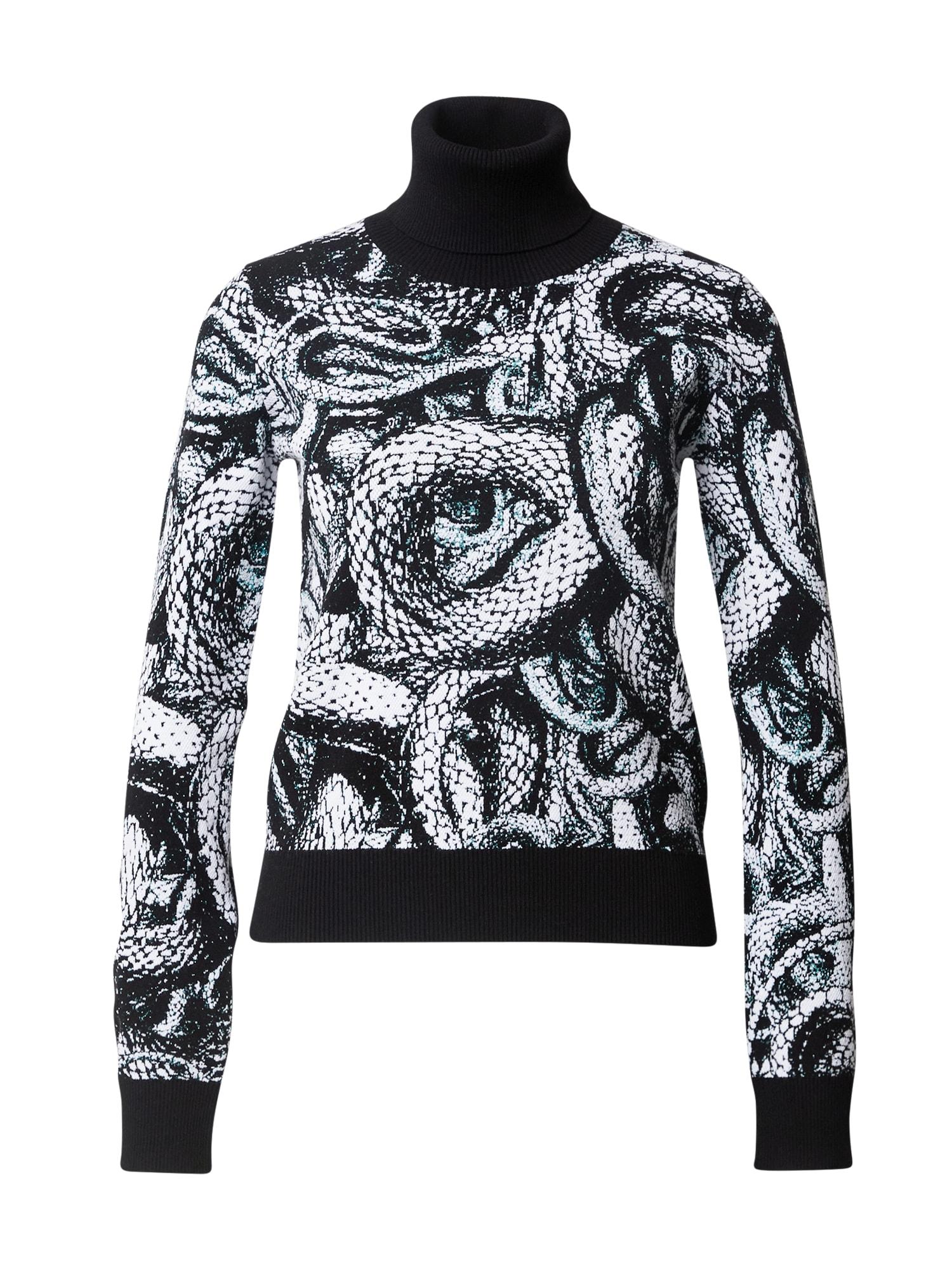 Just Cavalli Megztinis juoda / balta