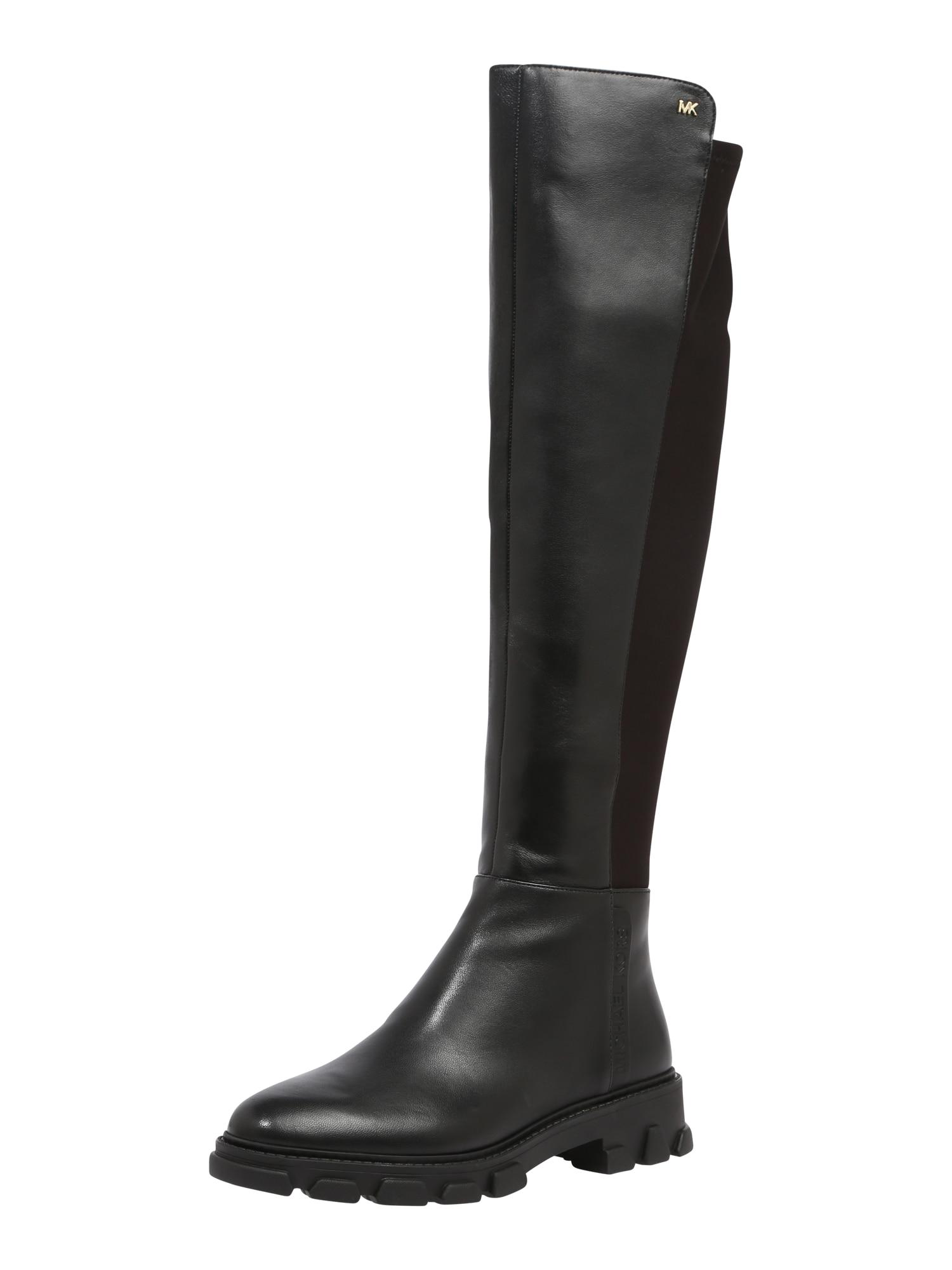 MICHAEL Michael Kors Kozačky nad kolena 'RIDLEY'  zlatá / černá