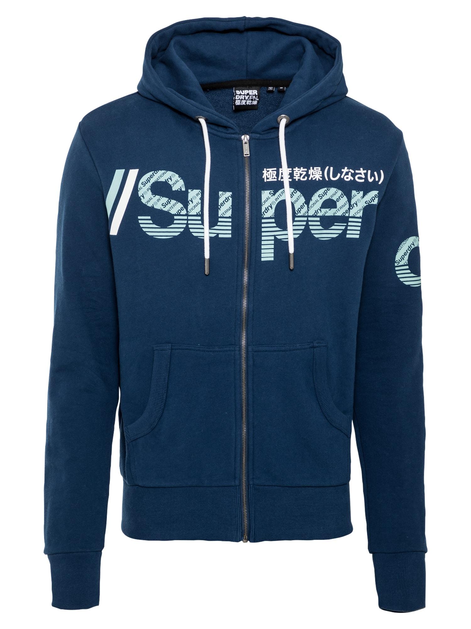 Superdry Džemperis mėlyna / šviesiai mėlyna / balta