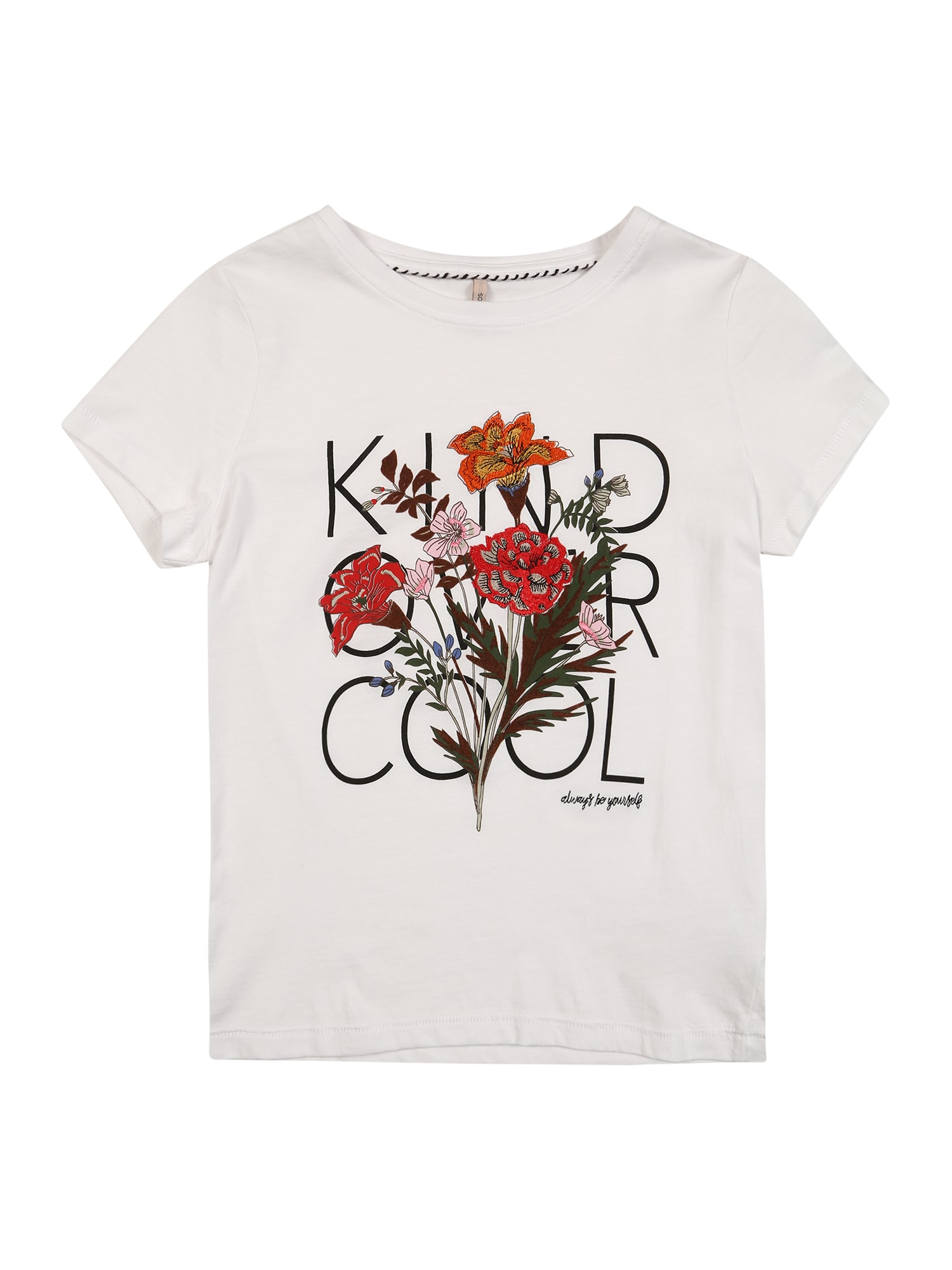 KIDS ONLY Tričko 'KITA'  bílá / světle červená / růžová / černá / vínově červená / smaragdová / nebeská modř / oranžová / zlatě žlutá