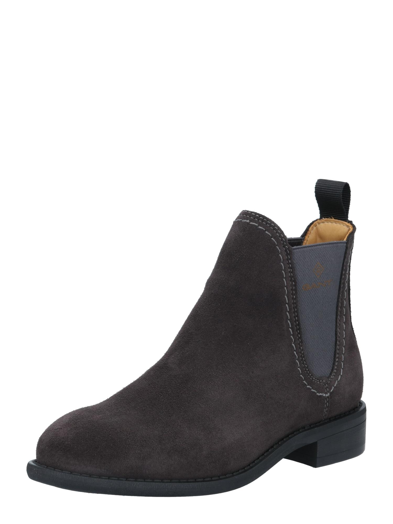 GANT Chelsea boty 'Ainsley'  medová / šedý melír / tmavě šedá