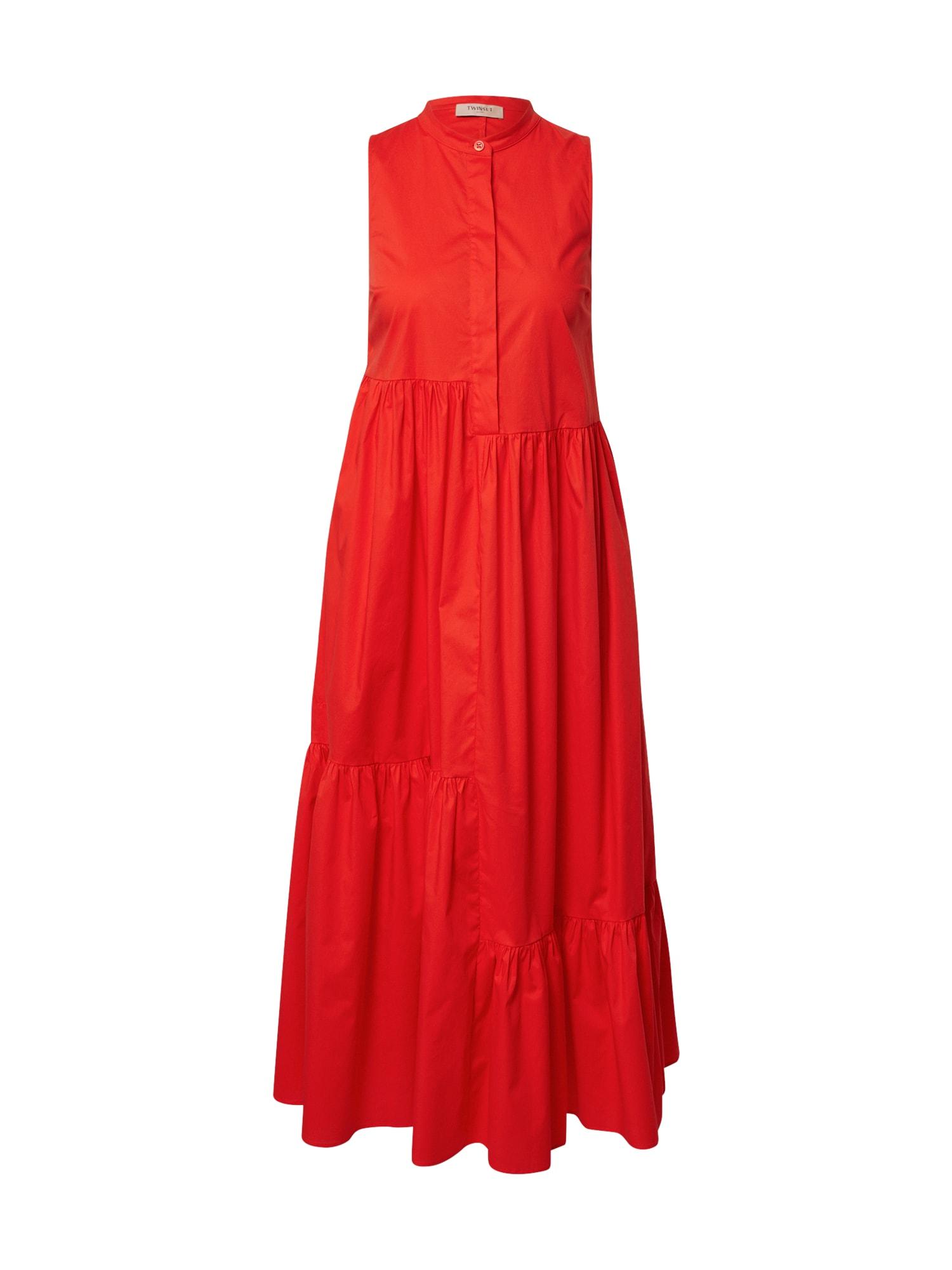 Twinset Palaidinės tipo suknelė oranžinė-raudona