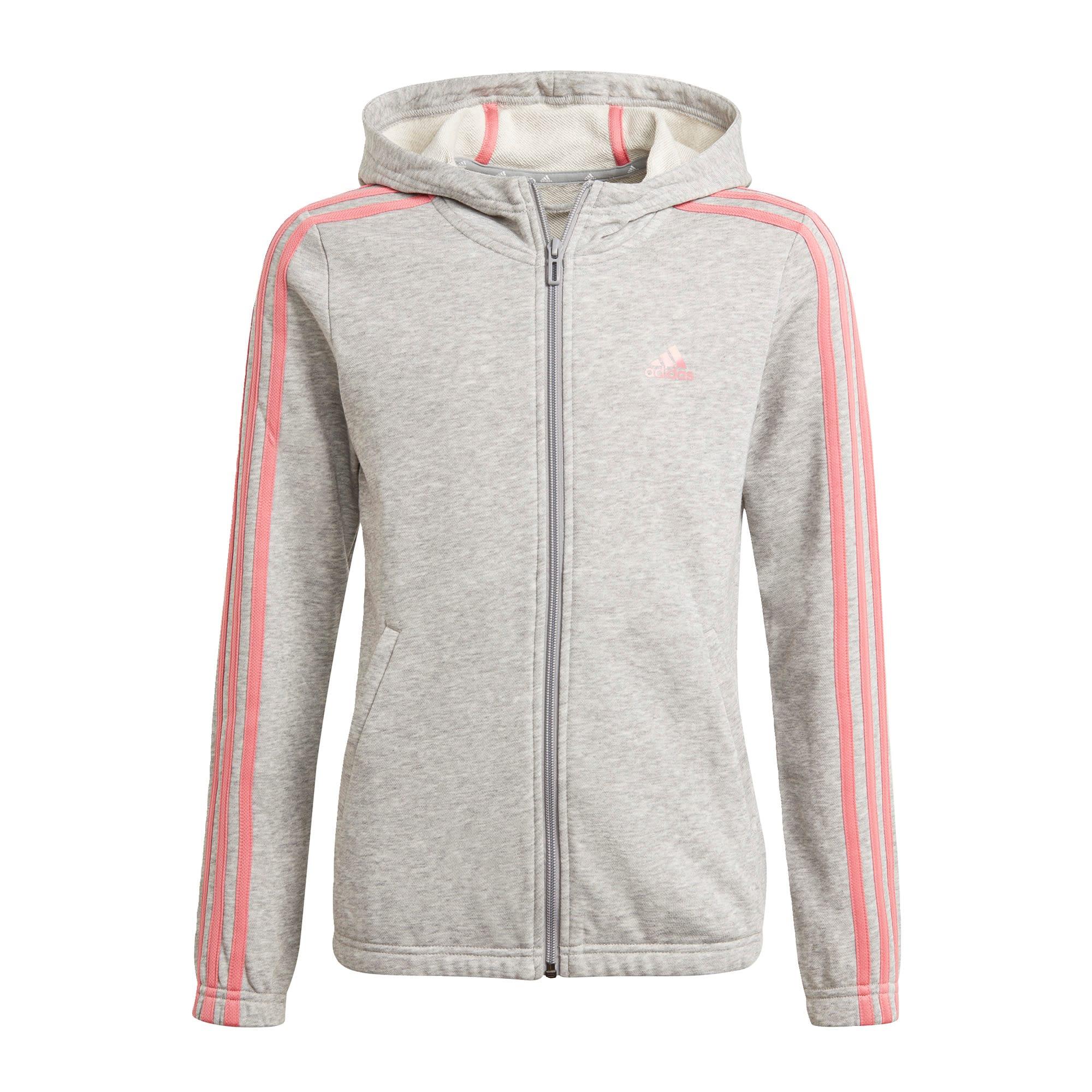 ADIDAS PERFORMANCE Sportinio tipo megztinis šviesiai pilka / rožių spalva / pastelinė rožinė