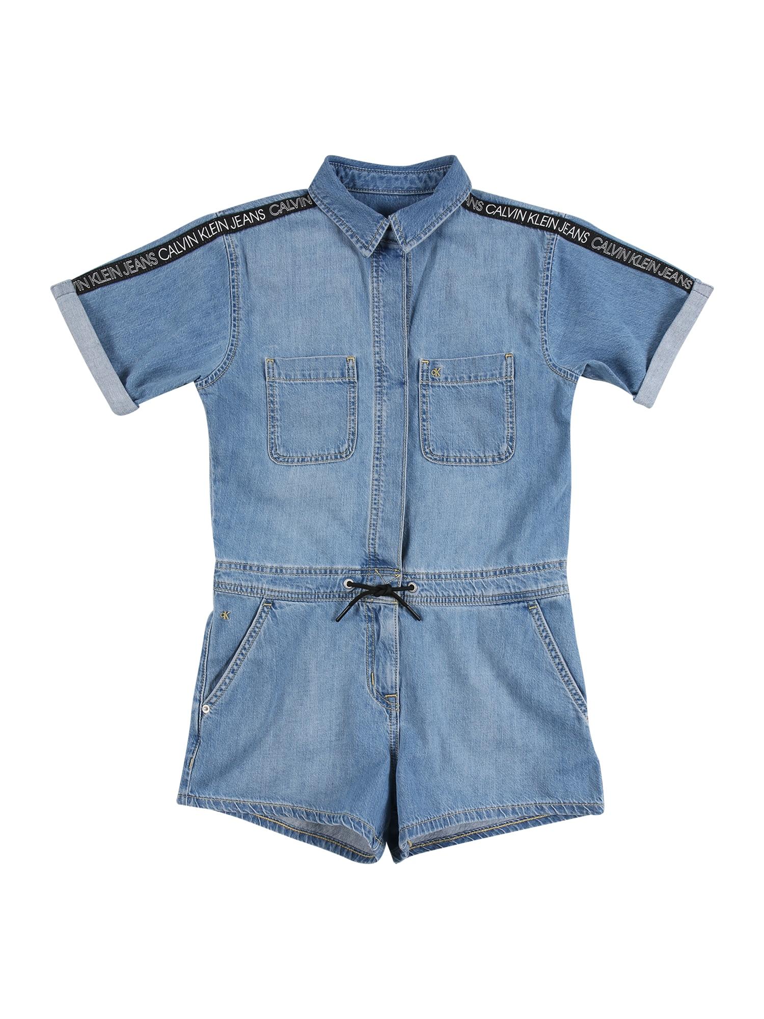 Calvin Klein Jeans Kombinezonas 'Rigid' tamsiai (džinso) mėlyna / juoda / balta