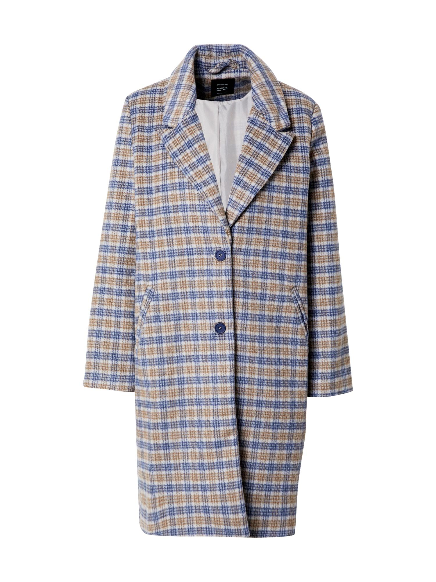 Cotton On Demisezoninis paltas mėlyna / smėlio / balta