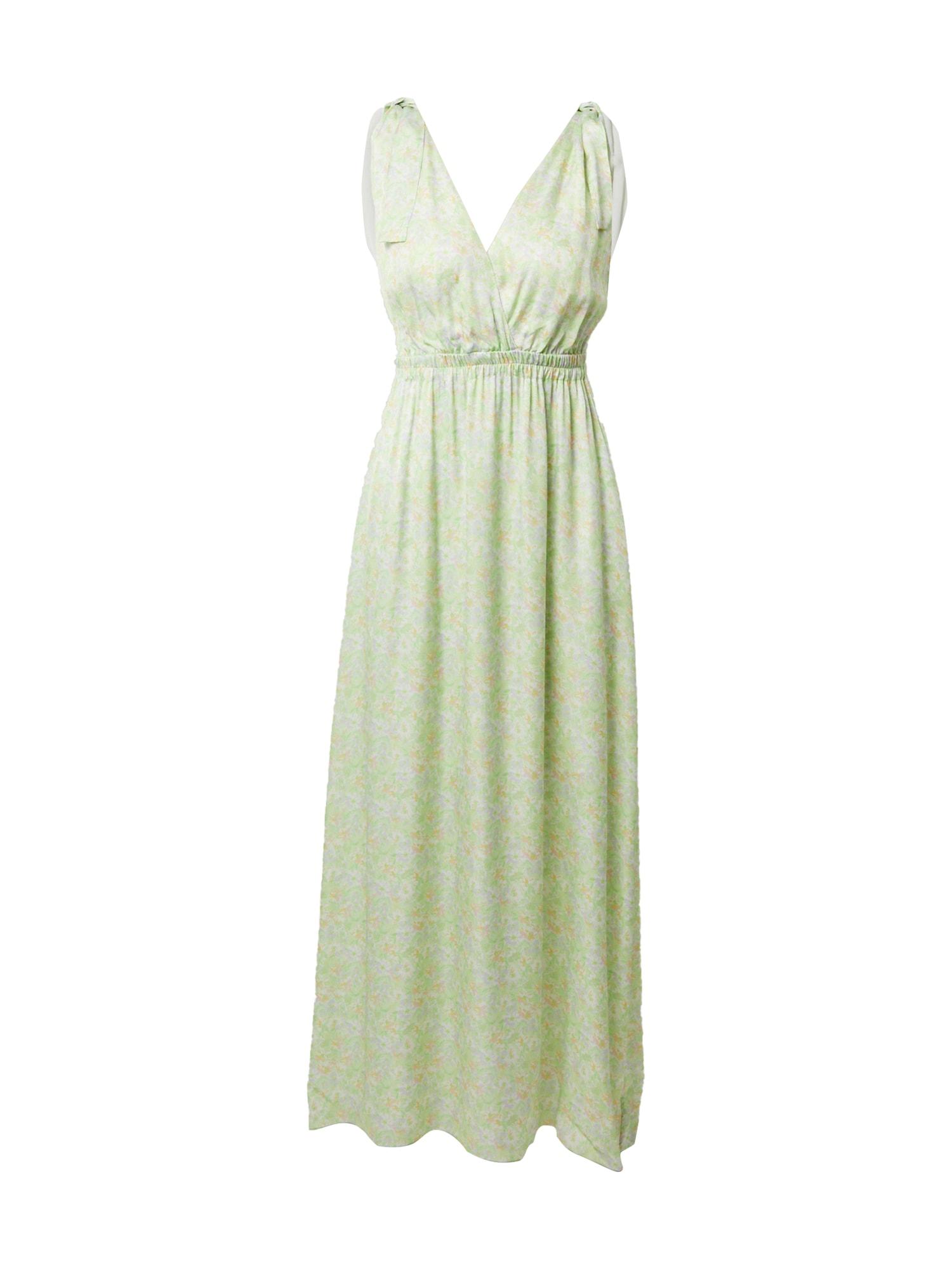 FRNCH PARIS Vasarinė suknelė šviesiai žalia / pastelinė violetinė / oranžinė