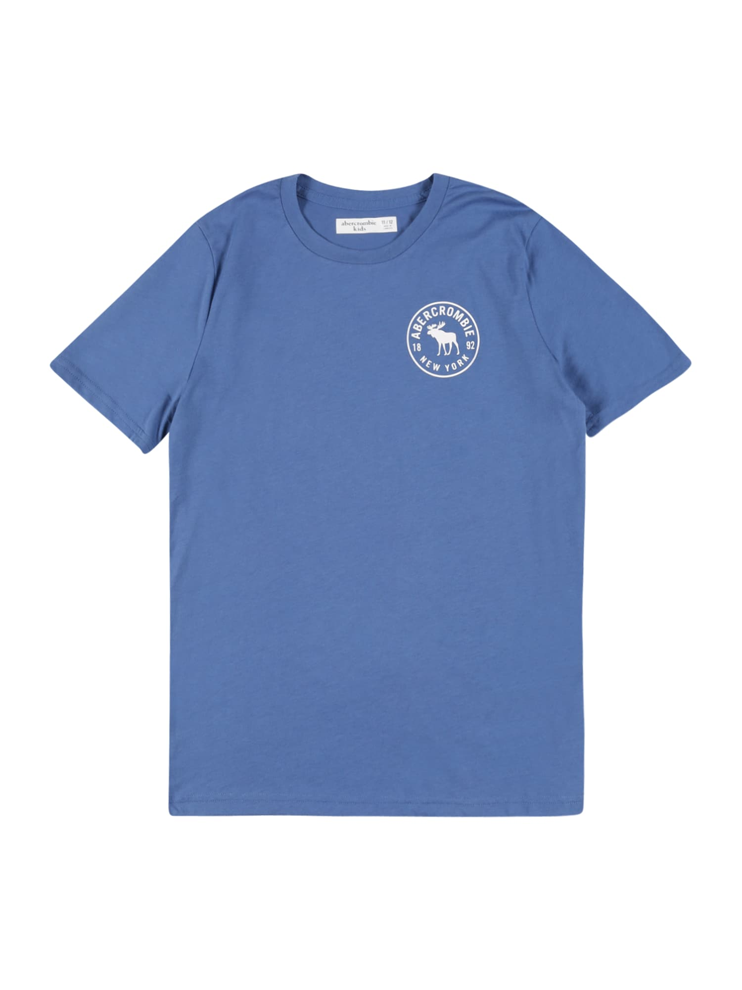 Abercrombie & Fitch Marškinėliai mėlyna dūmų spalva / balta / juoda / pastelinė geltona / melionų spalva