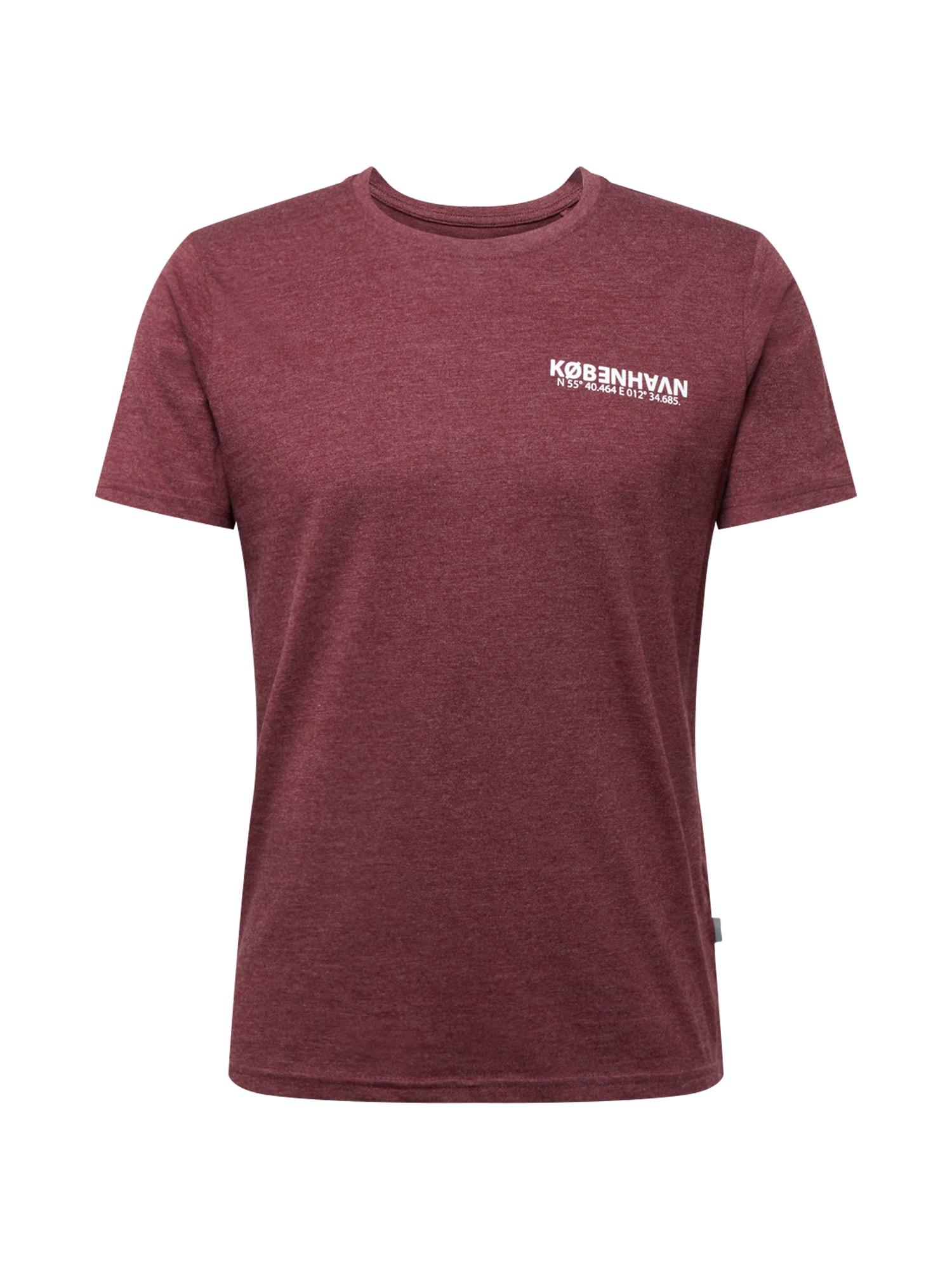 !Solid Tričko 'Matti'  vínově červená