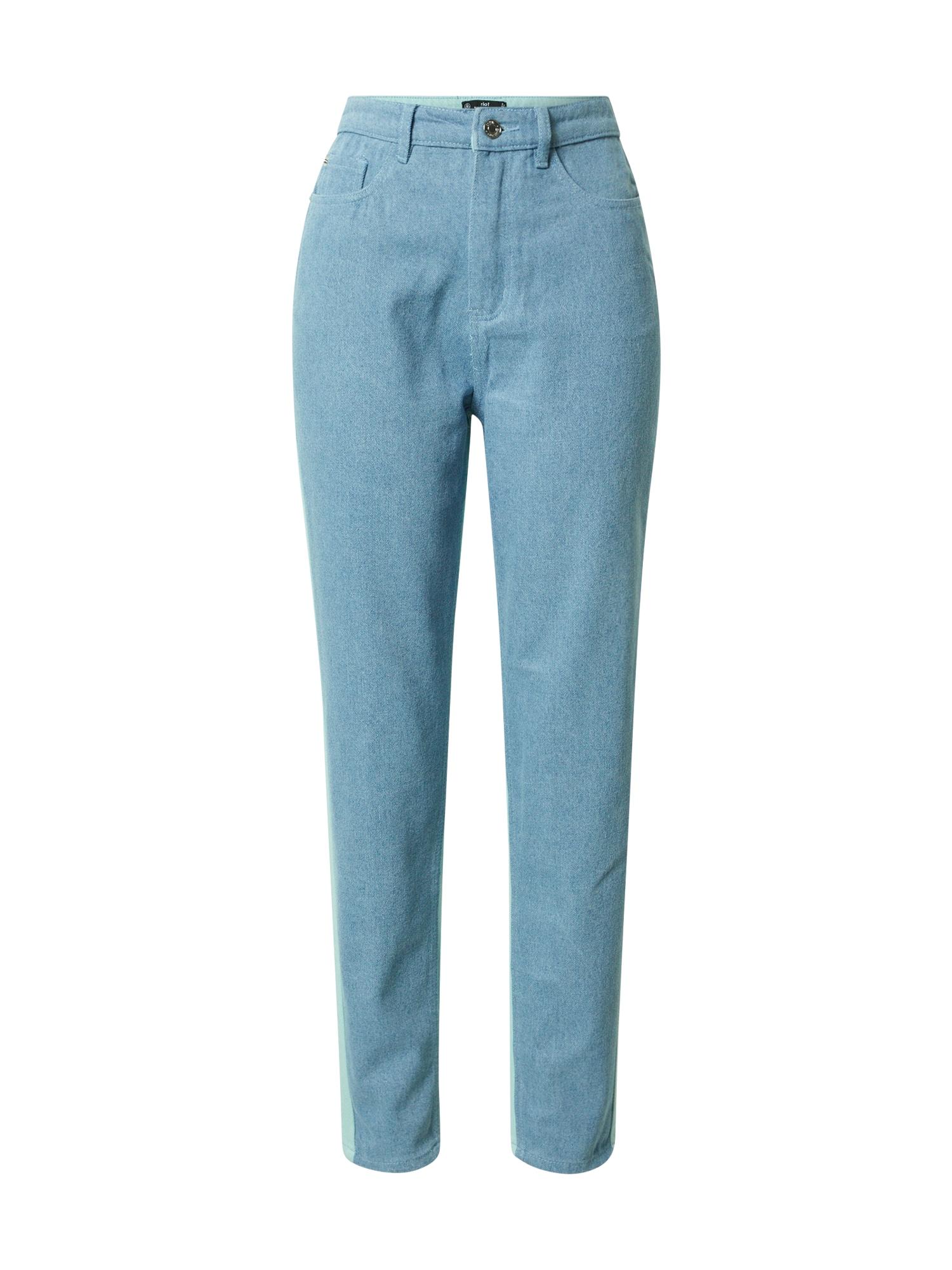 Missguided Džinsai tamsiai (džinso) mėlyna / šviesiai mėlyna