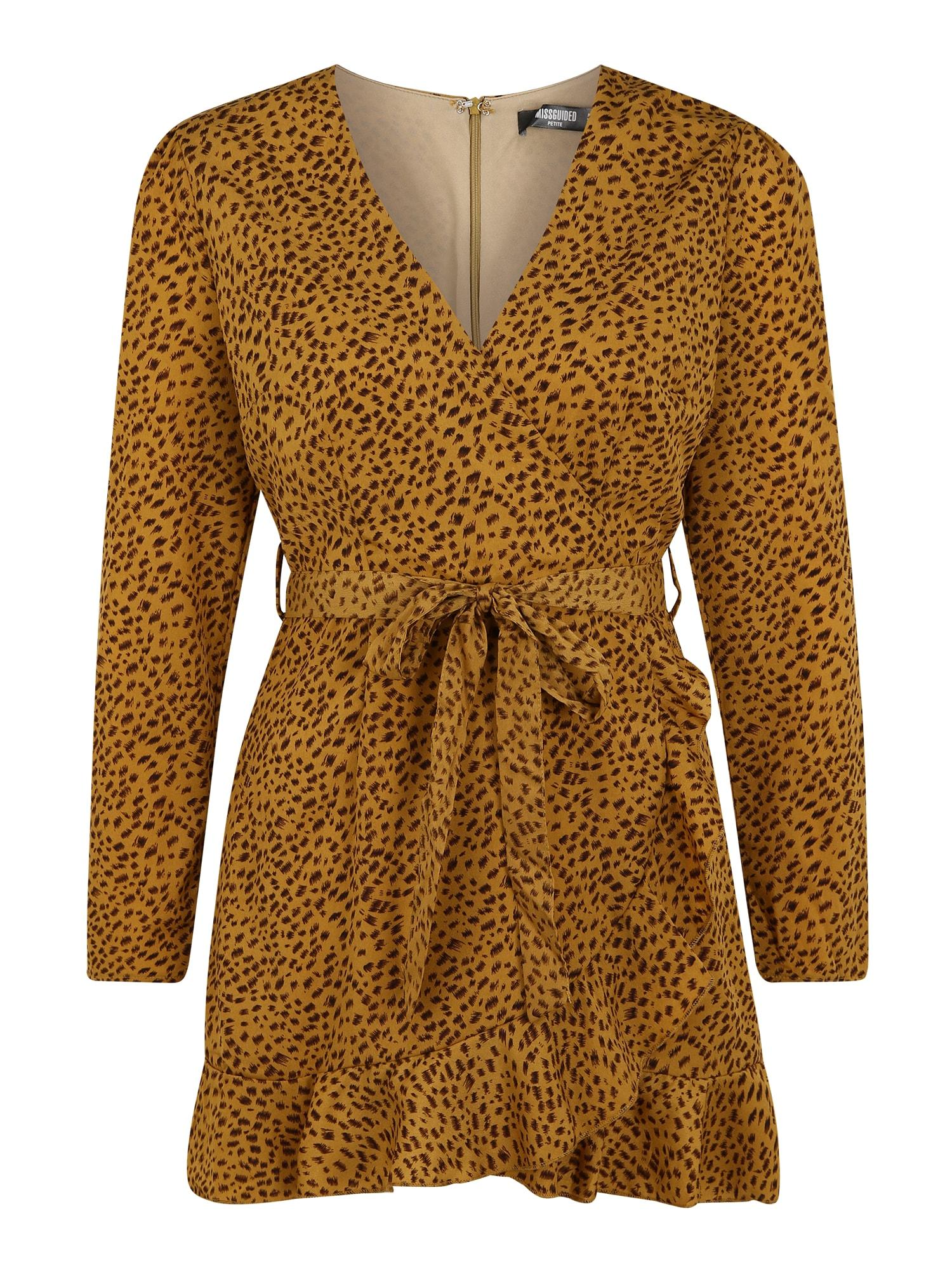Missguided (Petite) Suknelė garstyčių spalva / ruda