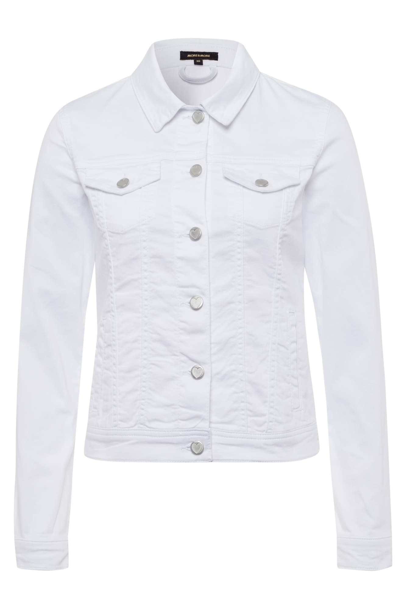 MORE & MORE Demisezoninė striukė balto džinso spalva