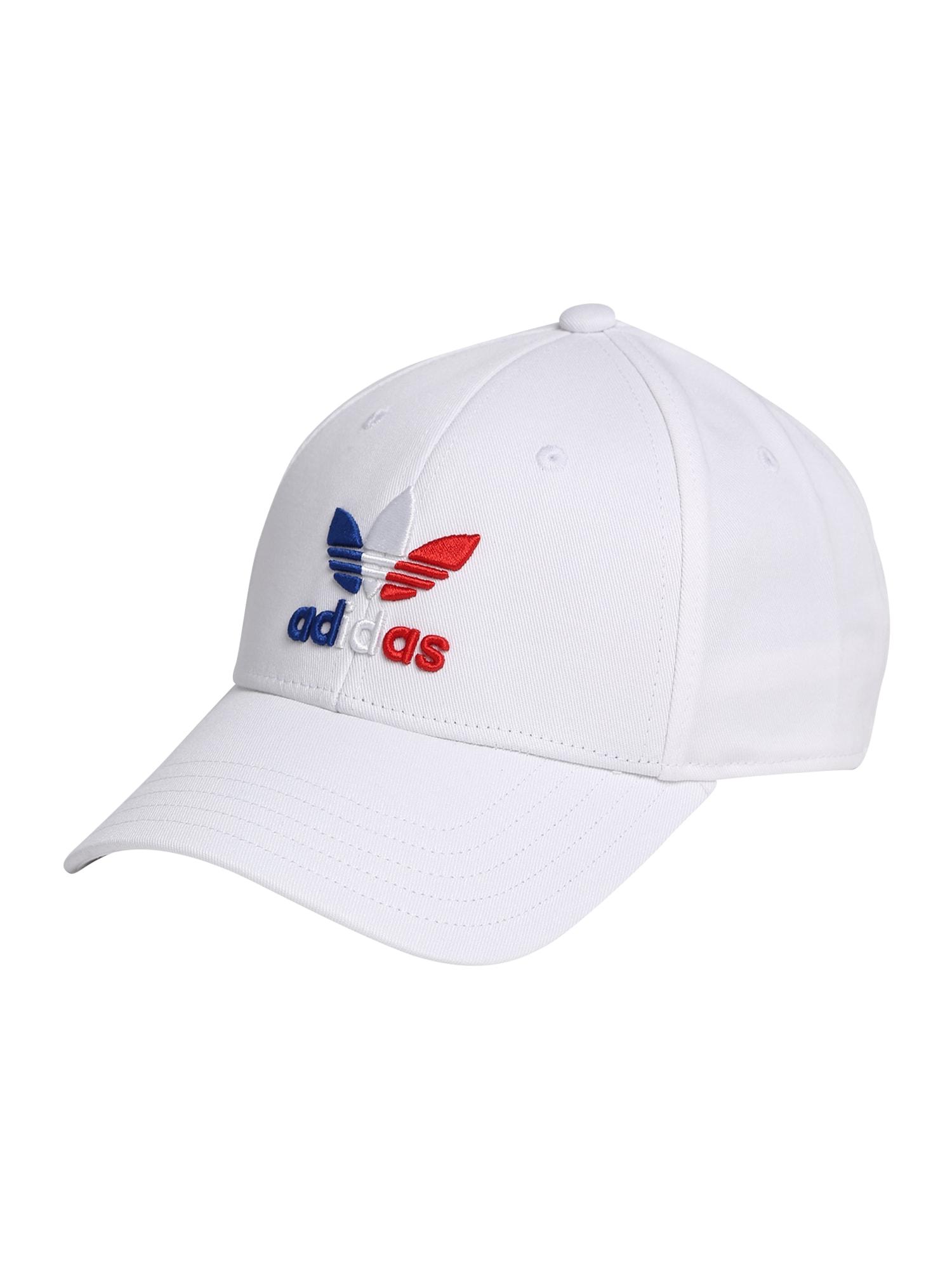ADIDAS ORIGINALS Kepurė balkšva / raudona / mėlyna