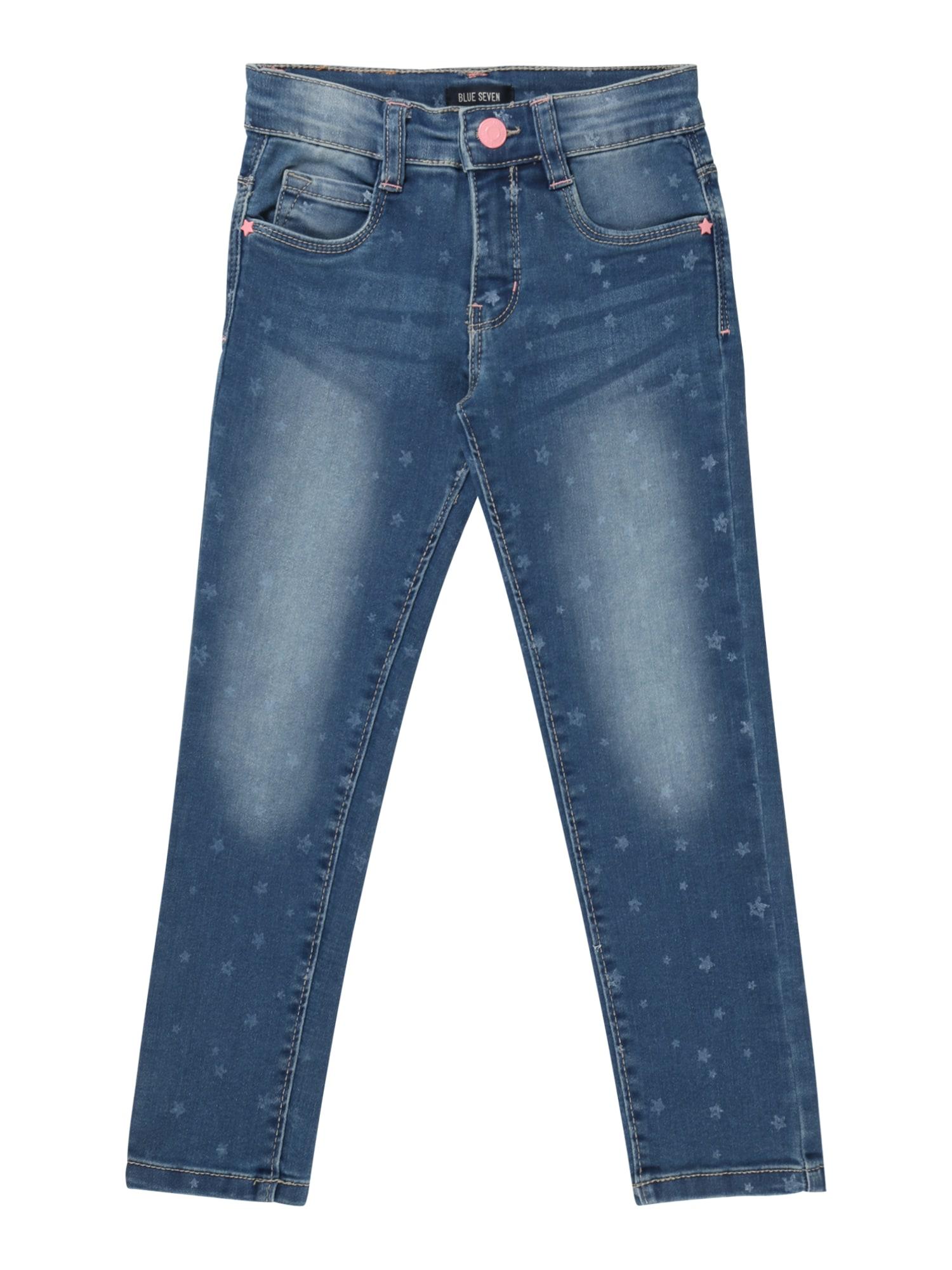 BLUE SEVEN Džinsai tamsiai (džinso) mėlyna / balta