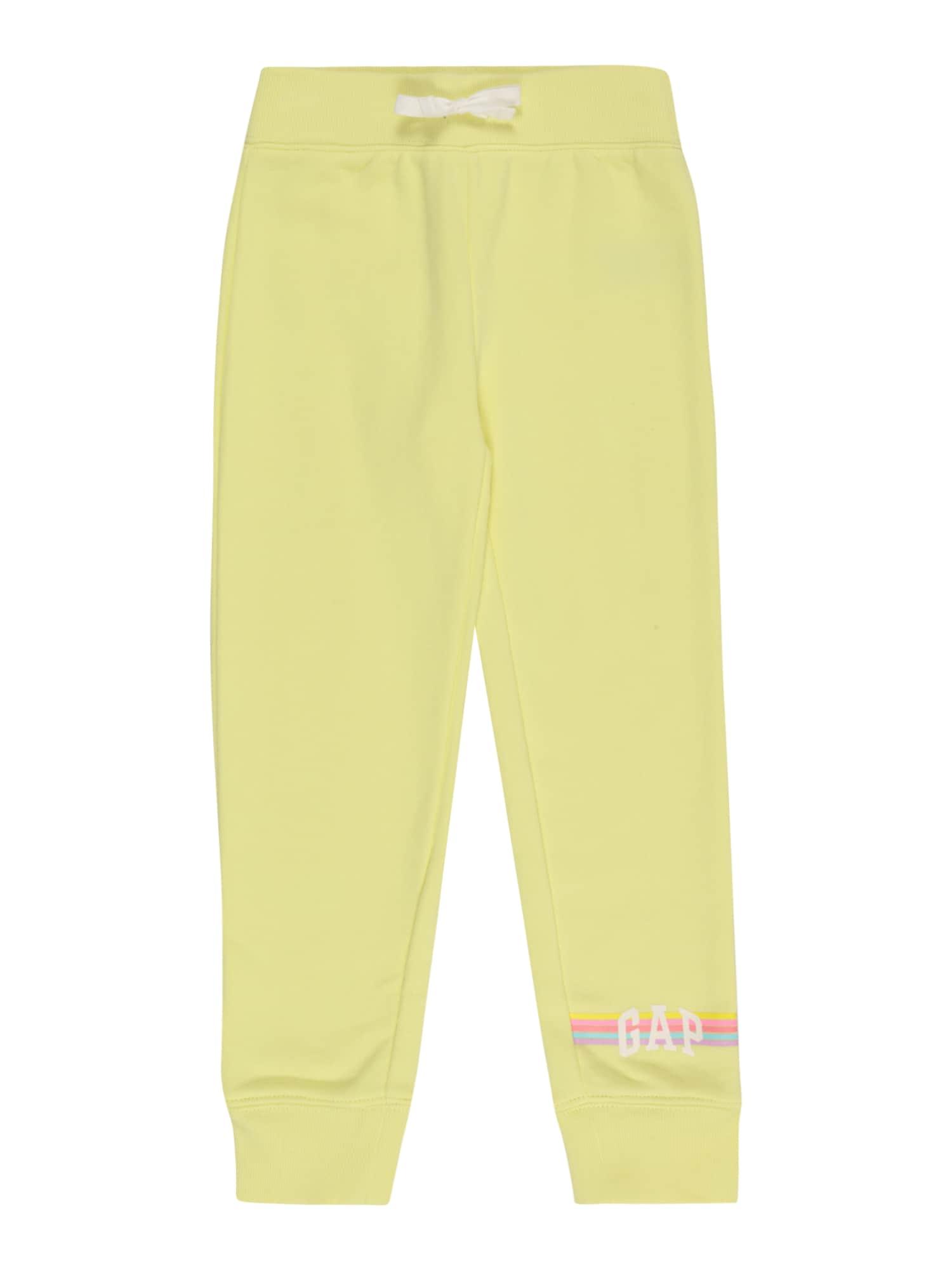 GAP Kelnės žaliosios citrinos spalva / rožinė / mėlyna / purpurinė / balta