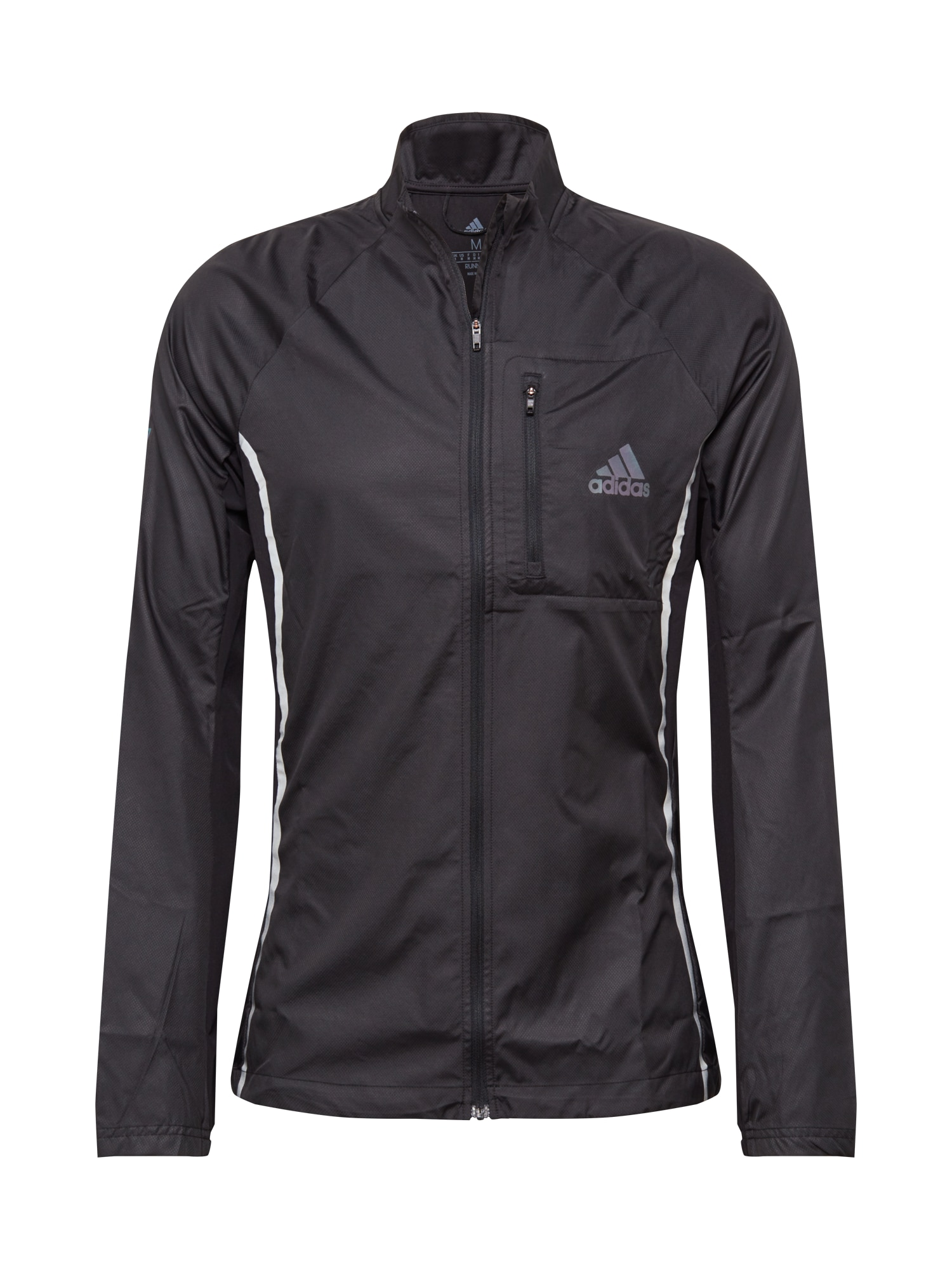 ADIDAS PERFORMANCE Sportovní bunda  černá / stříbrná