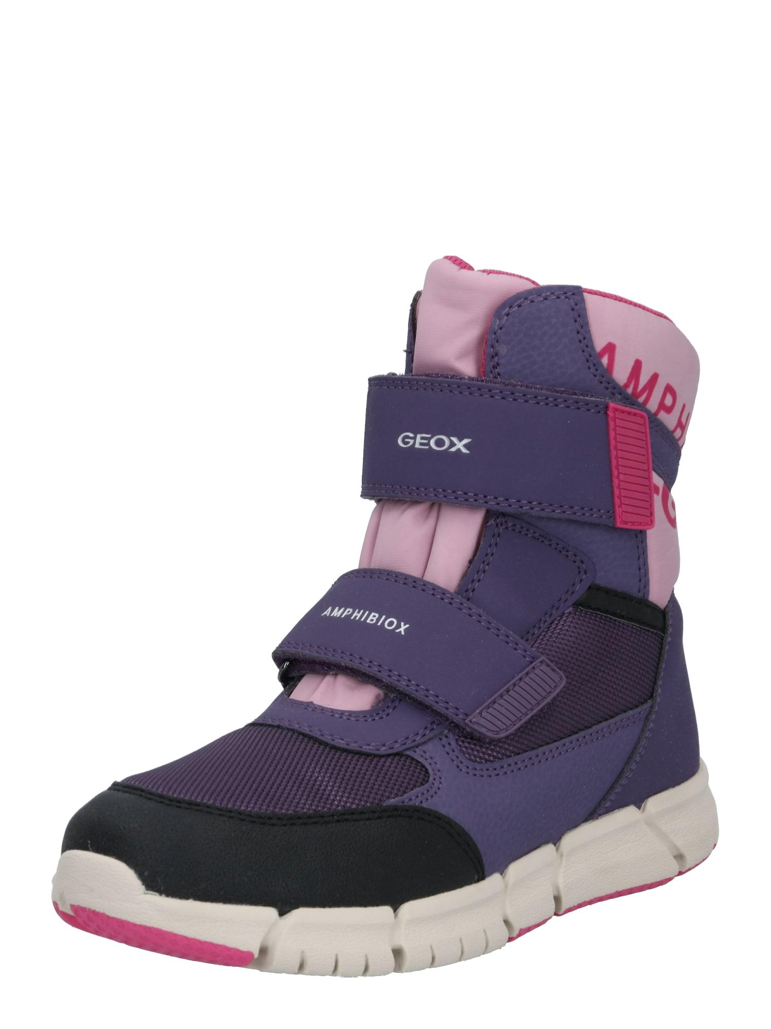 GEOX Sniego batai rožinė / purpurinė