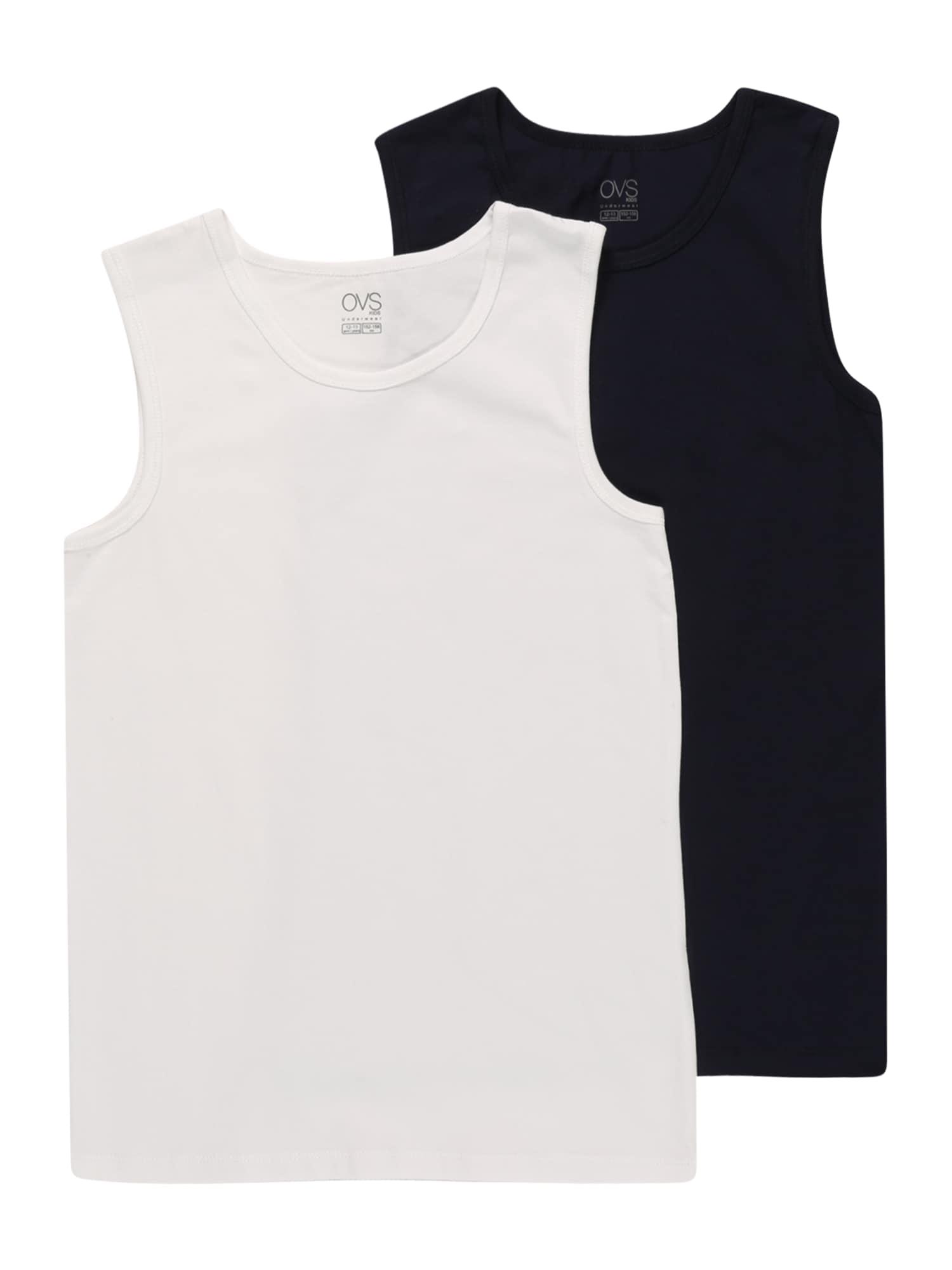 OVS Apatiniai marškinėliai nakties mėlyna / balkšva