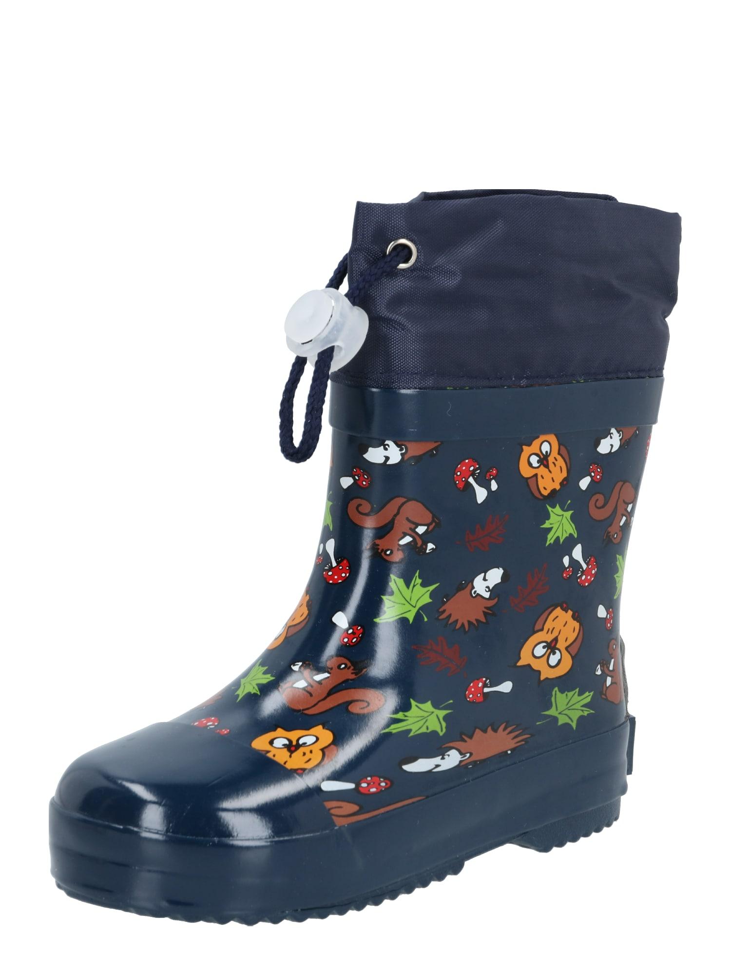 PLAYSHOES Guminiai batai tamsiai mėlyna / mišrios spalvos / karamelės / šviesiai žalia / balta