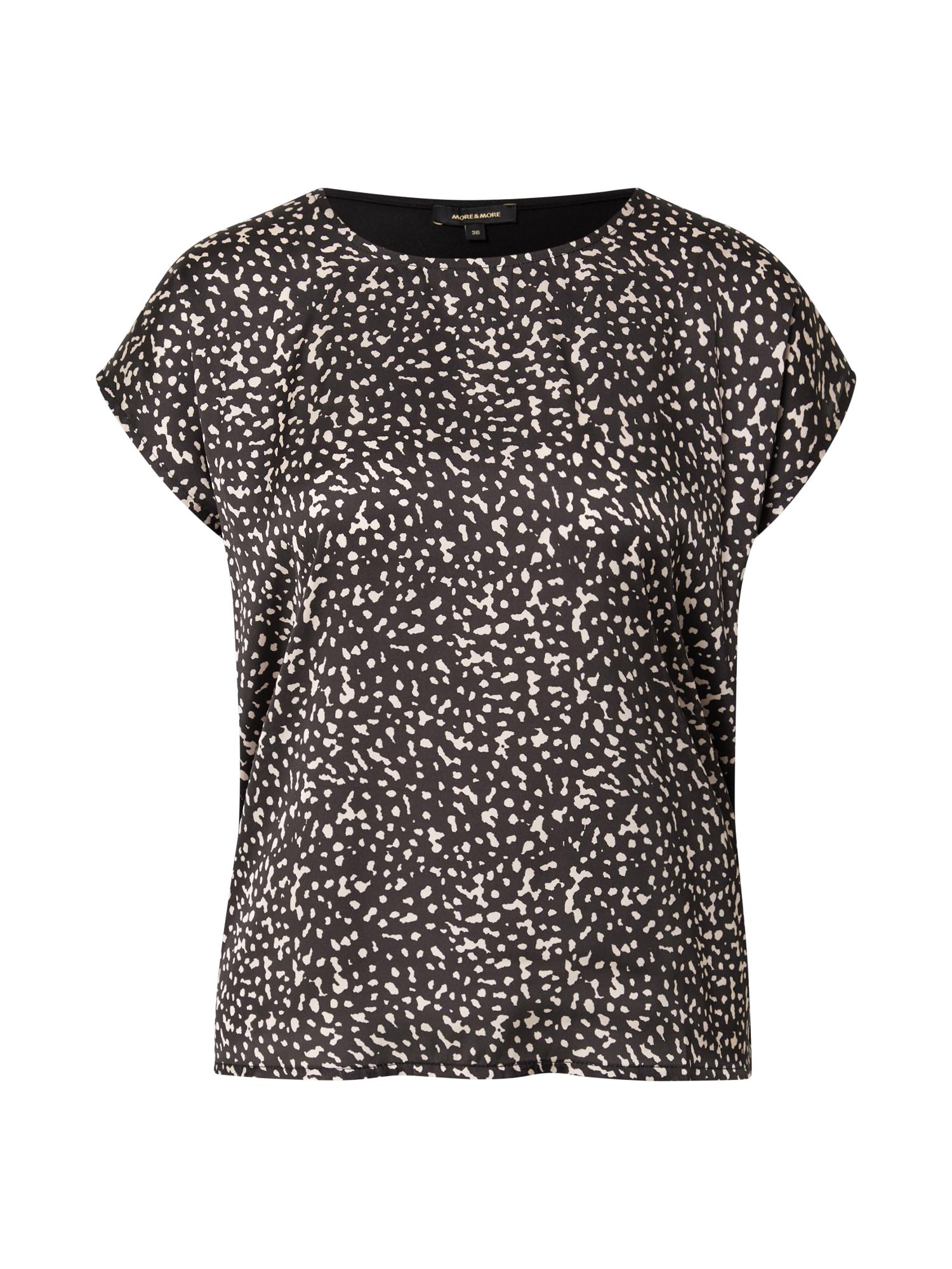 MORE & MORE Marškinėliai juoda / šviesiai pilka