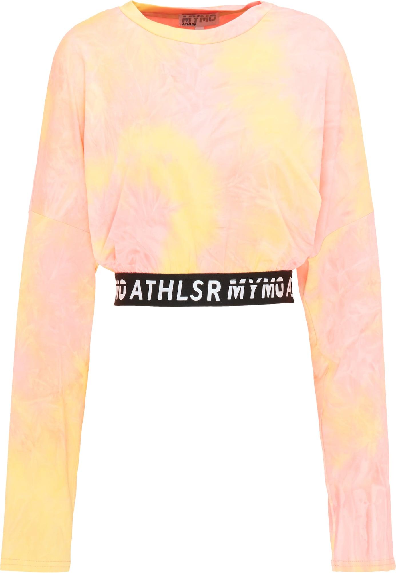 myMo ATHLSR Sportiniai marškinėliai balta / pastelinė oranžinė / pastelinė rožinė / pastelinė geltona / juoda