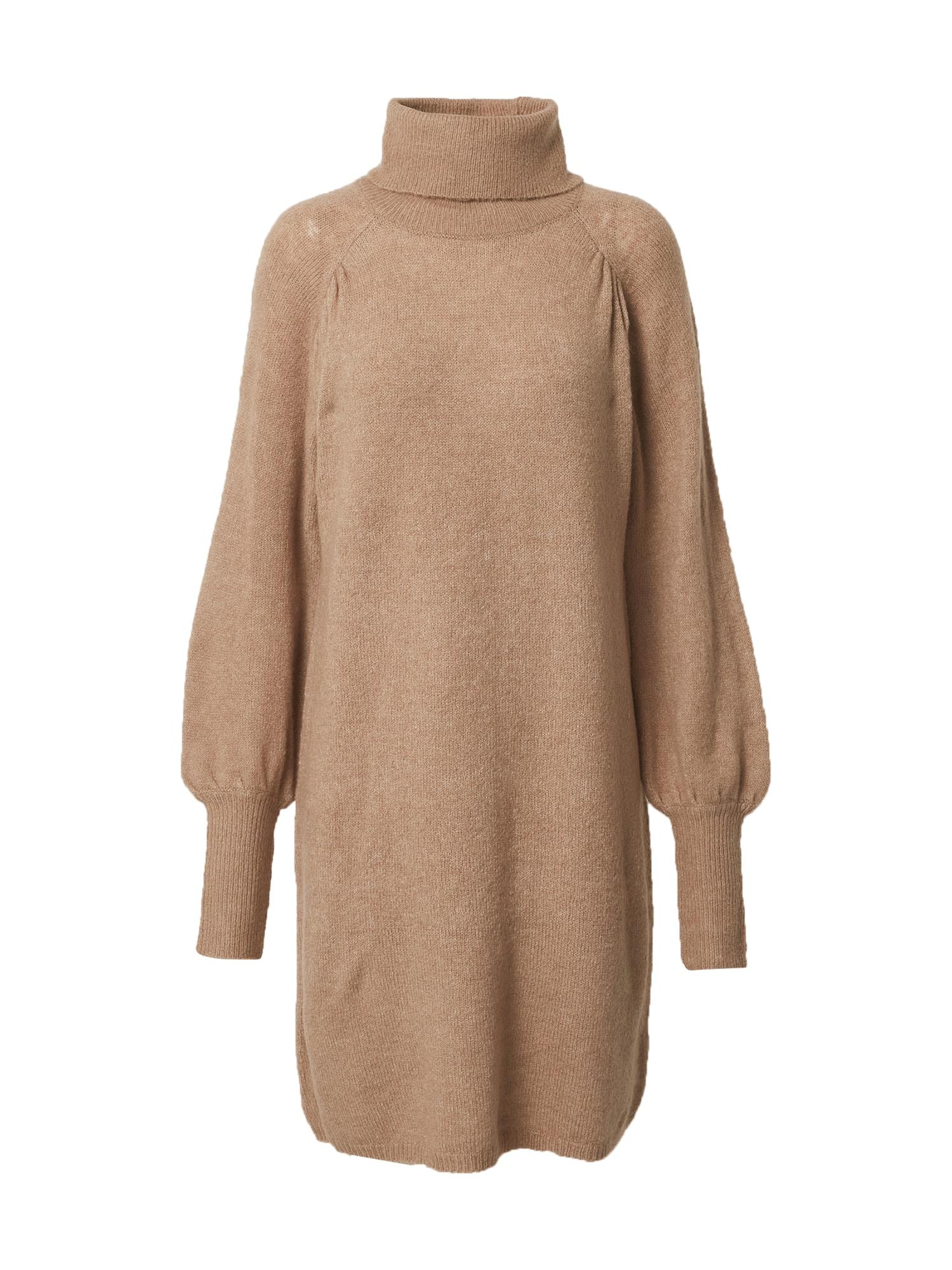 Freequent Megzta suknelė marga smėlio spalva