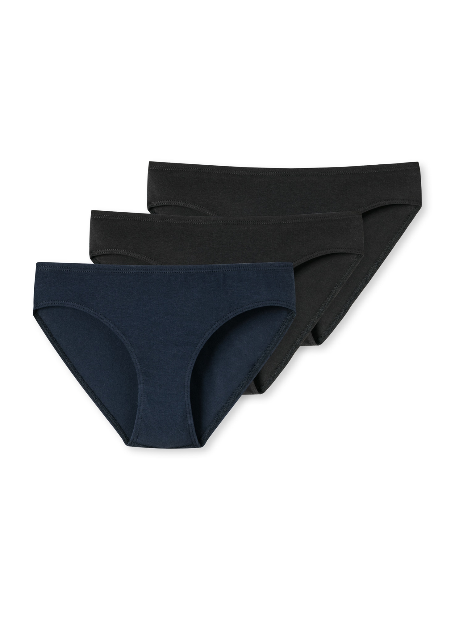 SCHIESSER Apatinės kelnaitės juoda / tamsiai mėlyna jūros spalva