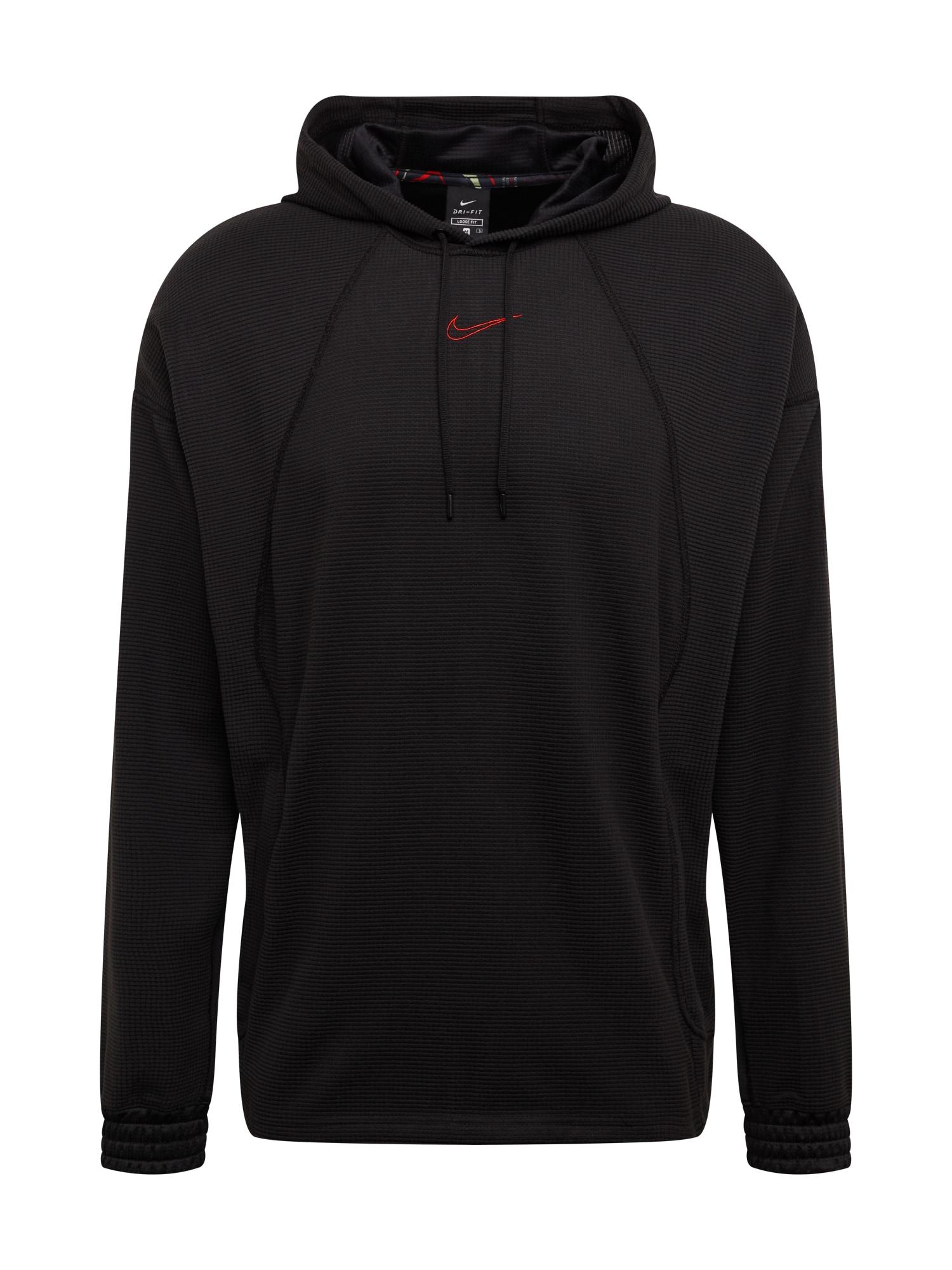 NIKE Sportinis megztinis oranžinė / juoda