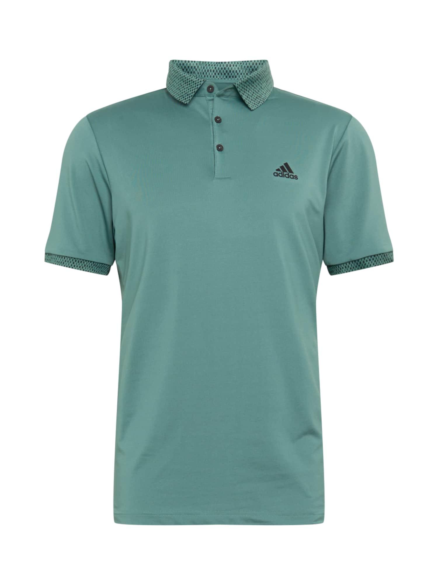 adidas Golf Funkční tričko  tmavě zelená / černá