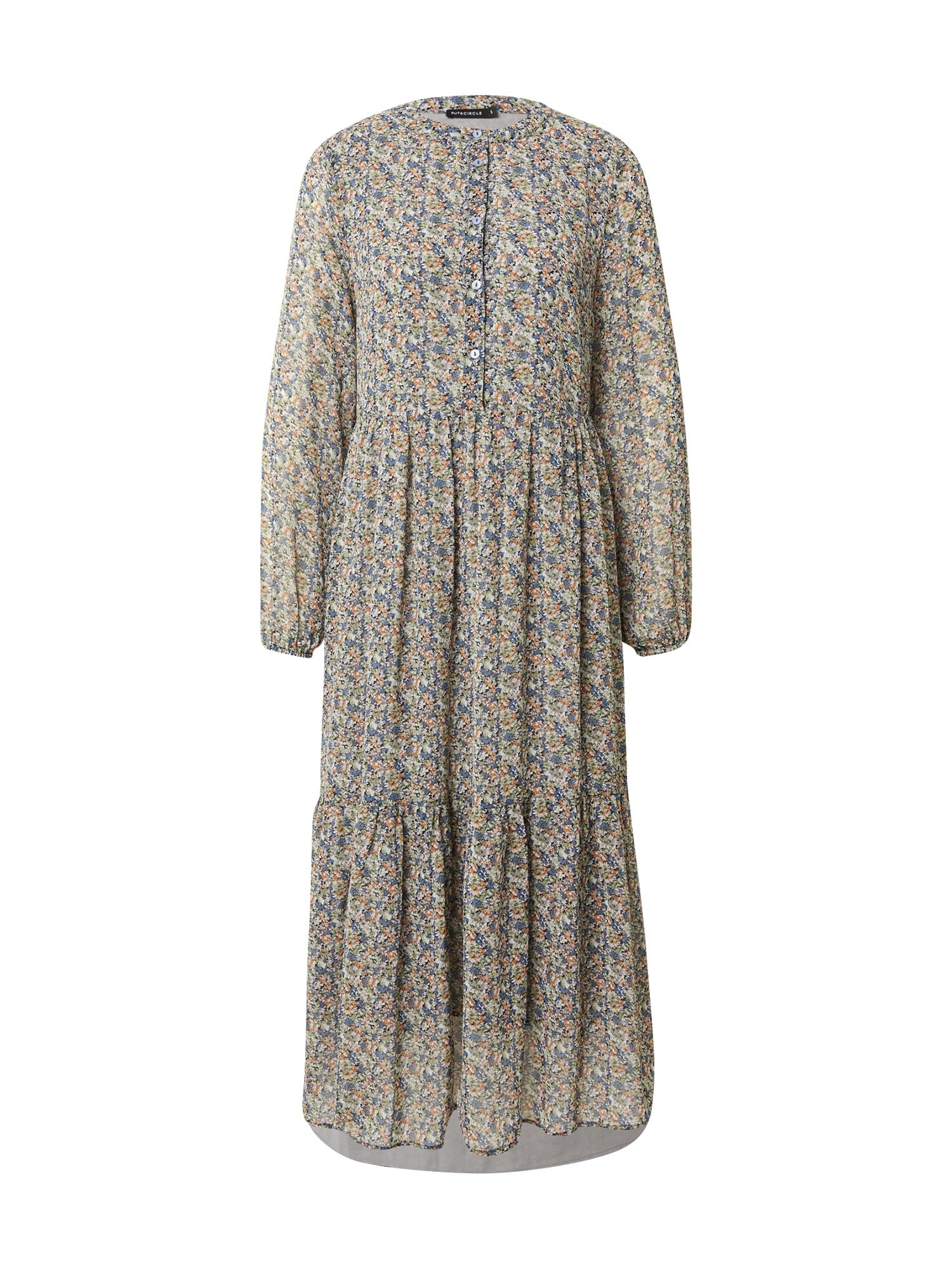 Rut & Circle Košilové šaty 'JOSEFINA'  mix barev / zelená