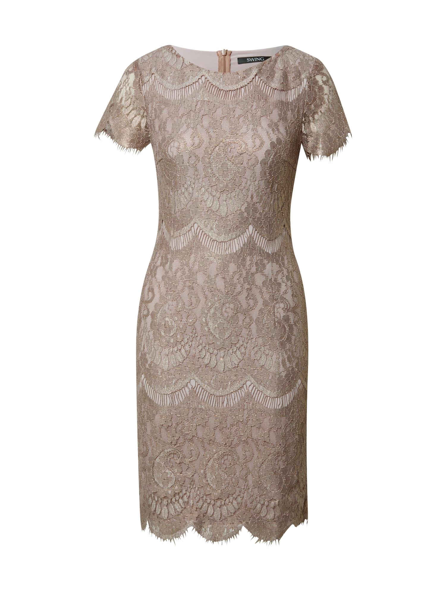 SWING Kokteilinė suknelė šviesiai ruda