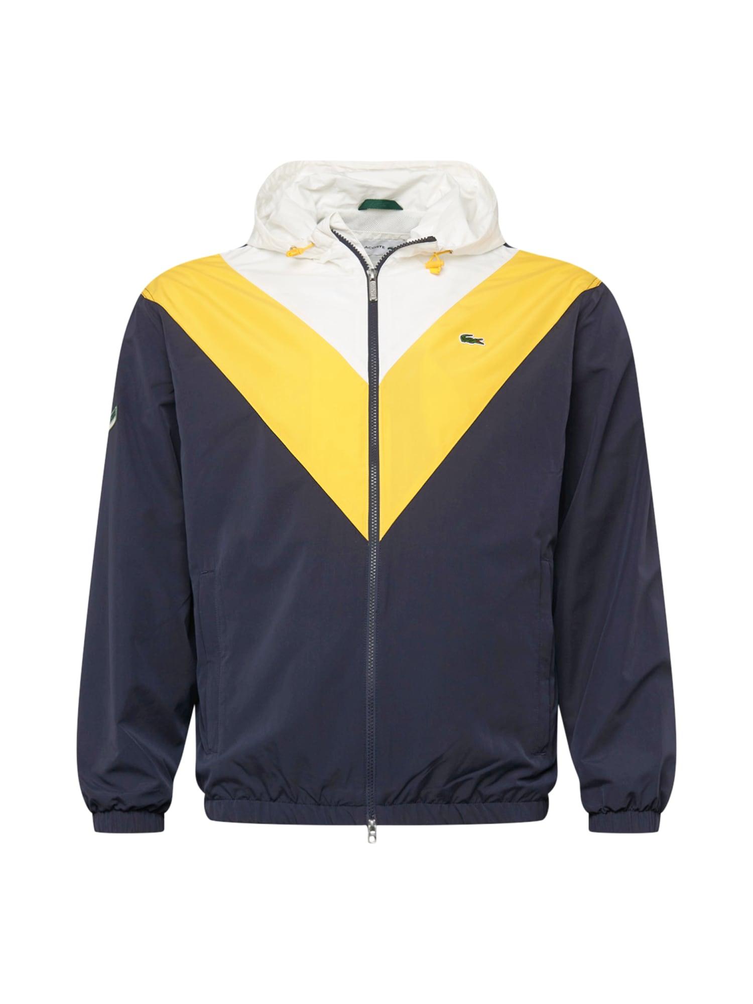 LACOSTE Přechodná bunda  noční modrá / žlutá / bílá