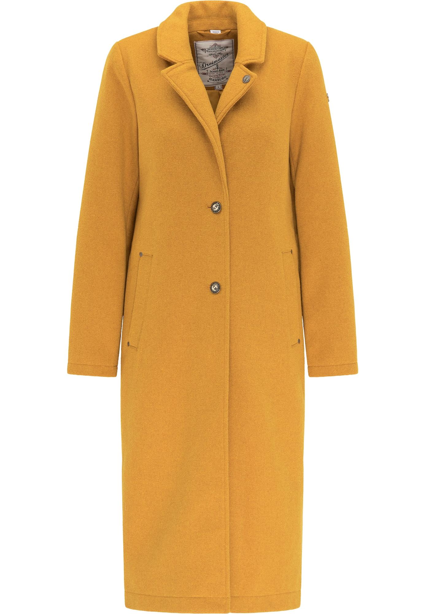 DreiMaster Vintage Demisezoninis paltas medaus spalva