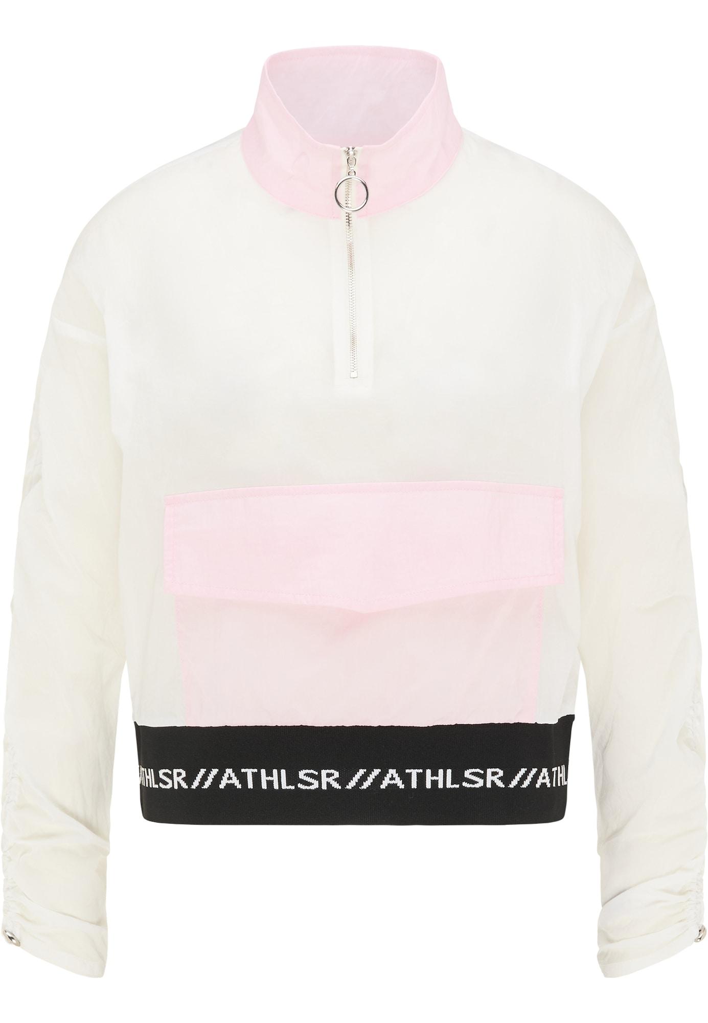 myMo ATHLSR Laisvalaikio striukė balta / pastelinė rožinė / juoda