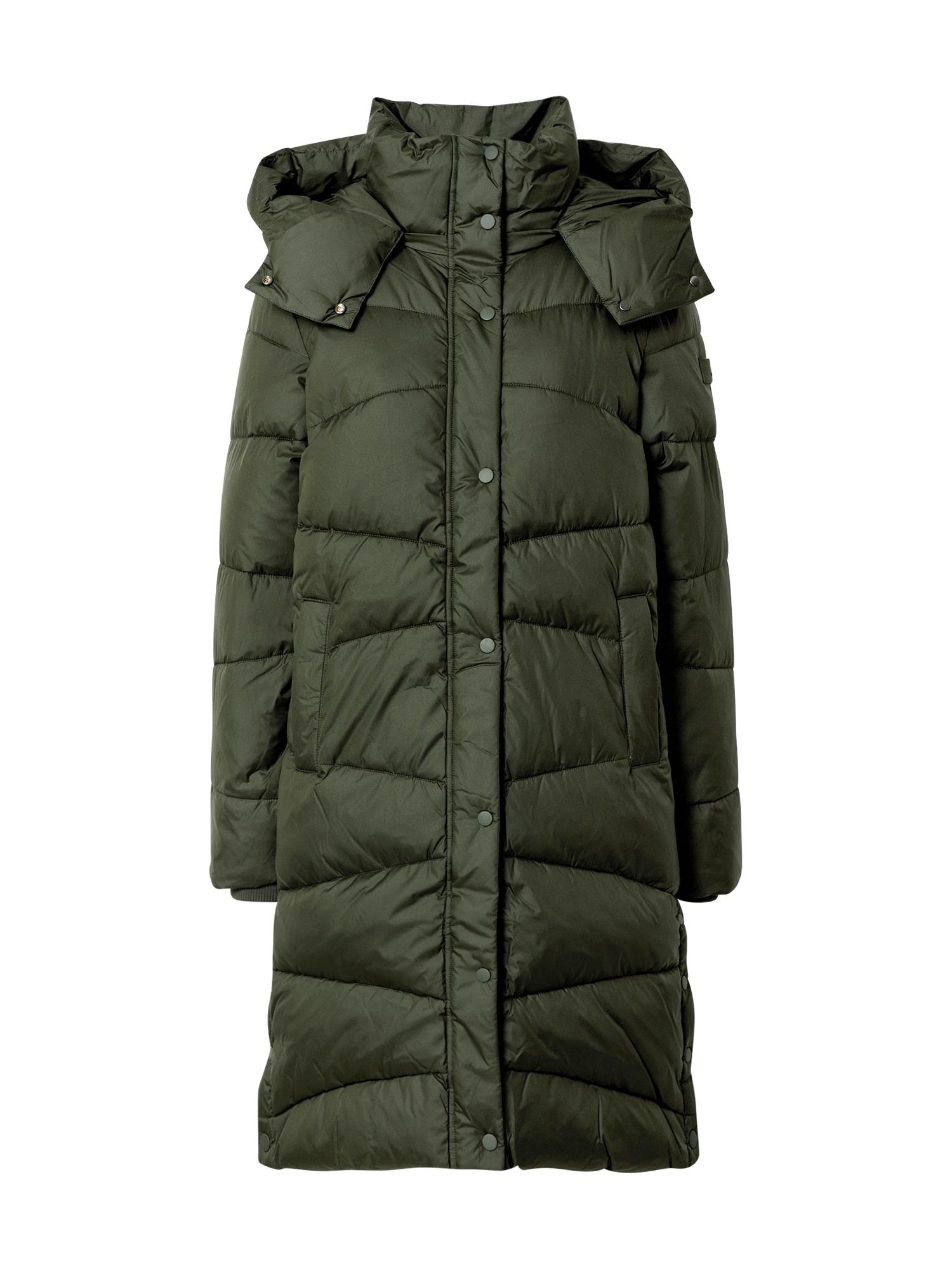 TOM TAILOR Demisezoninis paltas tamsiai žalia