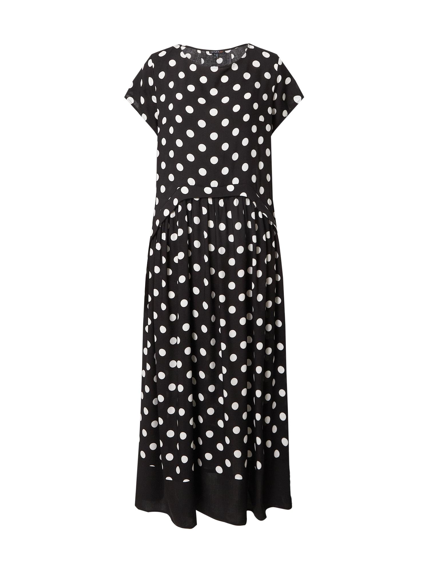 APART Vasarinė suknelė juoda / kremo