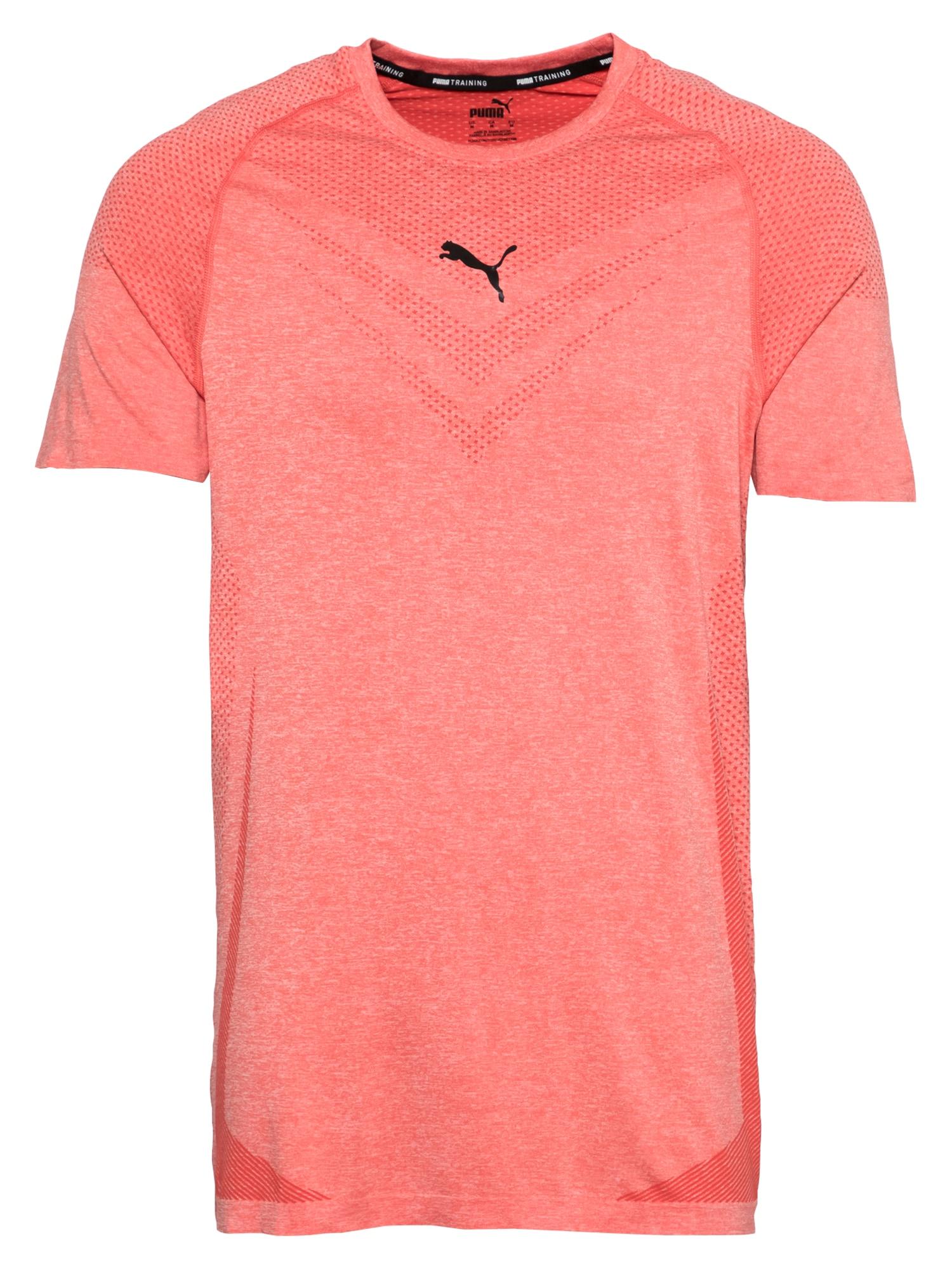 PUMA Sportiniai marškinėliai raudona / juoda