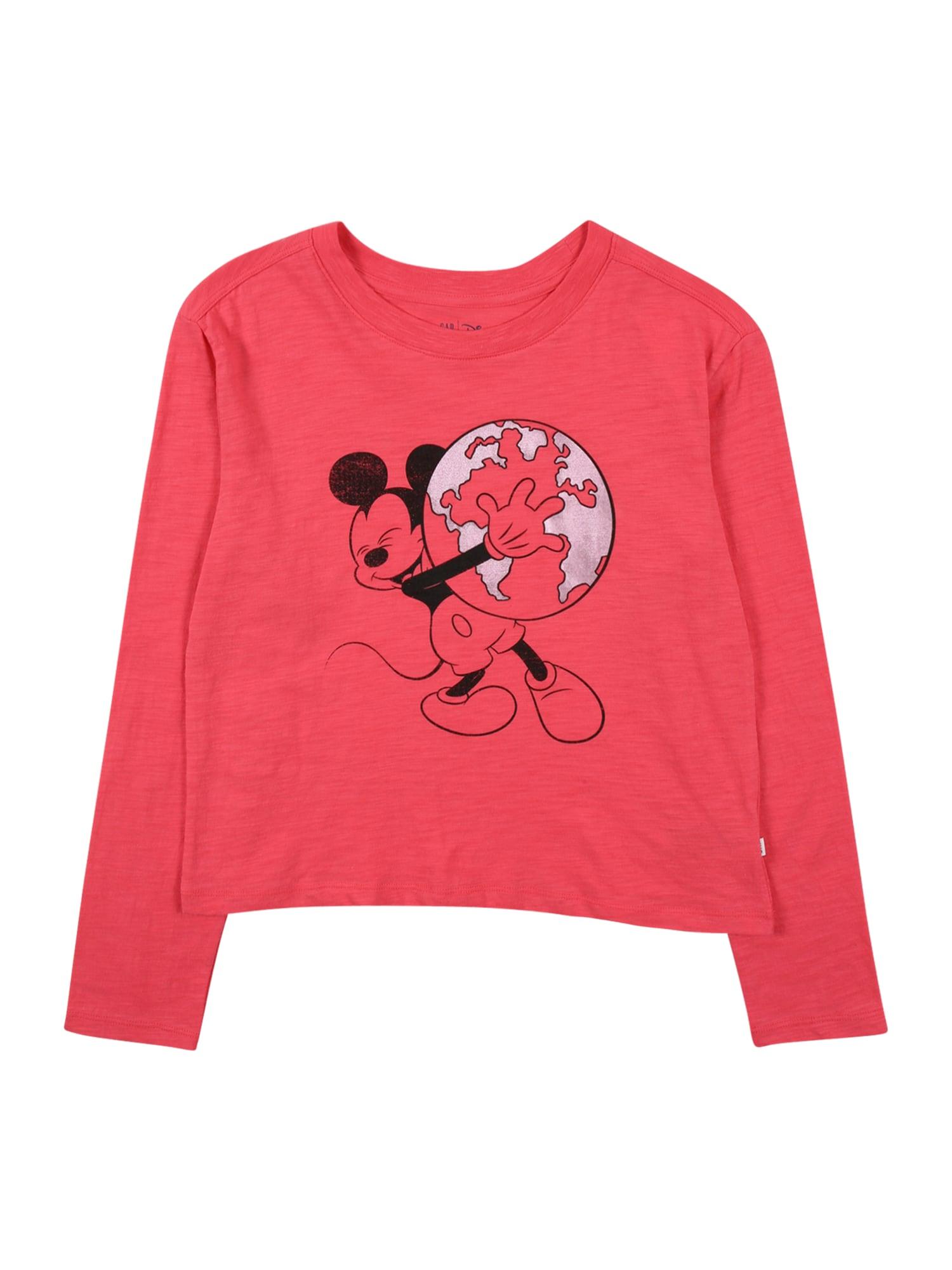 GAP Marškinėliai margai rožinė / juoda / sidabrinė