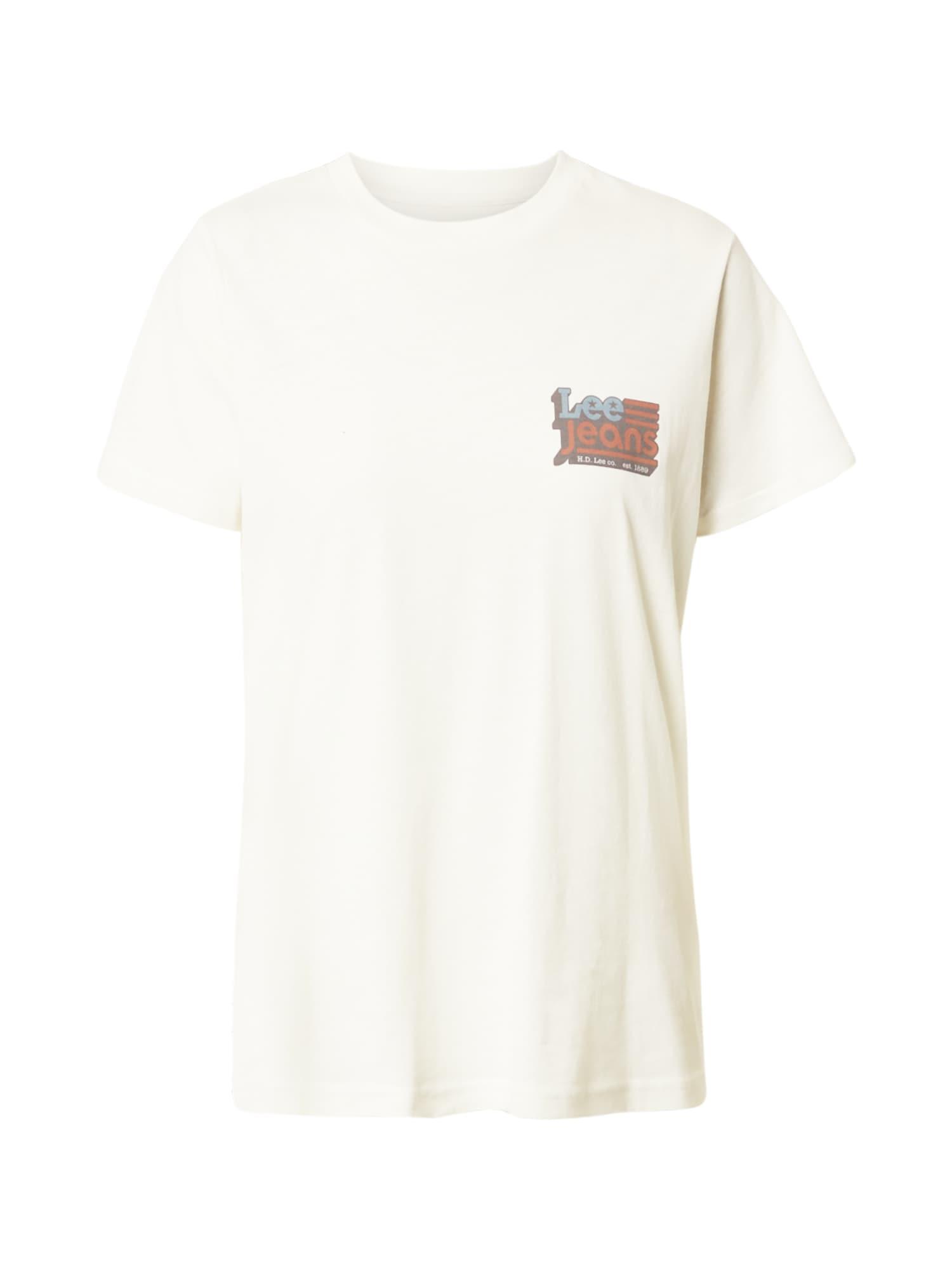 Lee Marškinėliai kremo / raudona / mėlyna / juoda