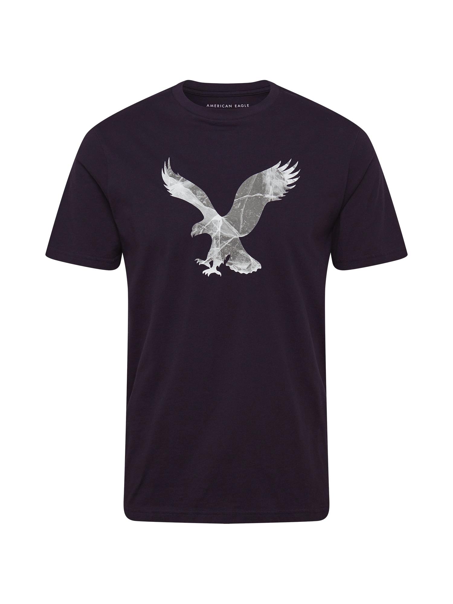 American Eagle Marškinėliai juoda / pilka